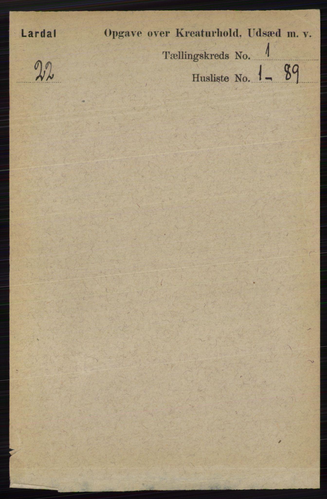 RA, Folketelling 1891 for 0728 Lardal herred, 1891, s. 3235