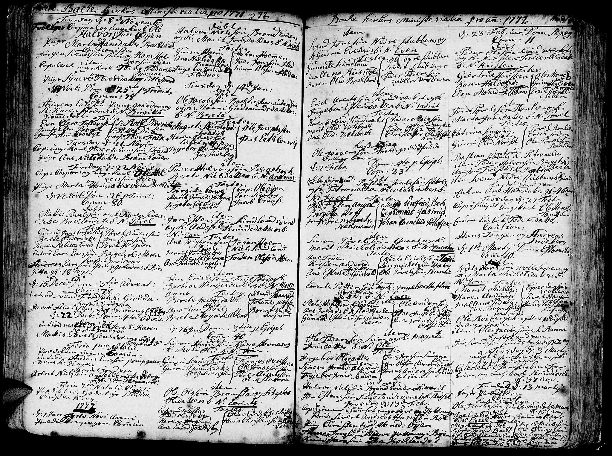 SAT, Ministerialprotokoller, klokkerbøker og fødselsregistre - Sør-Trøndelag, 606/L0276: Ministerialbok nr. 606A01 /2, 1727-1779, s. 212-213