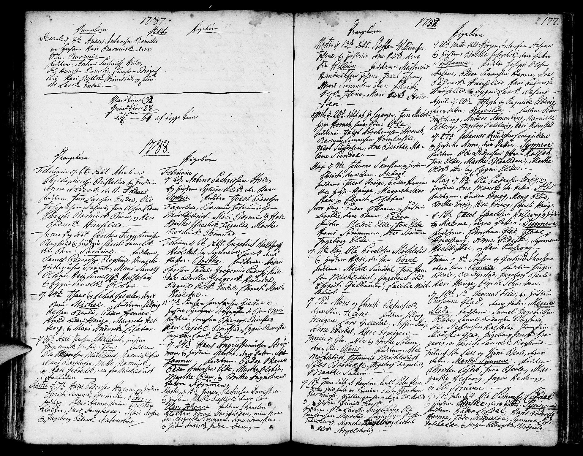 SAB, Davik Sokneprestembete, Ministerialbok nr. A 2, 1742-1816, s. 177