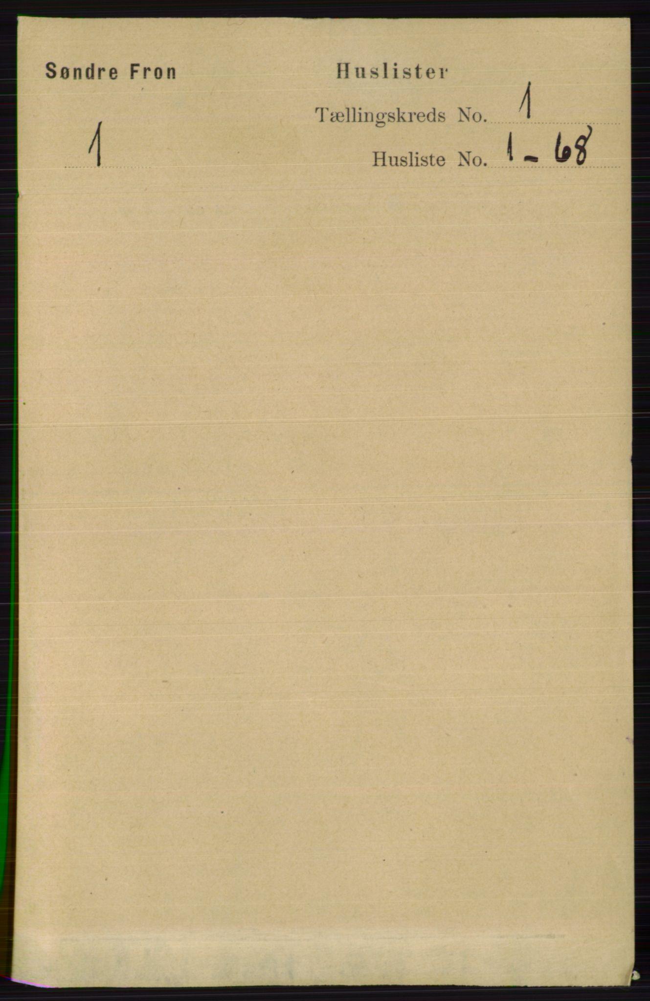RA, Folketelling 1891 for 0519 Sør-Fron herred, 1891, s. 23
