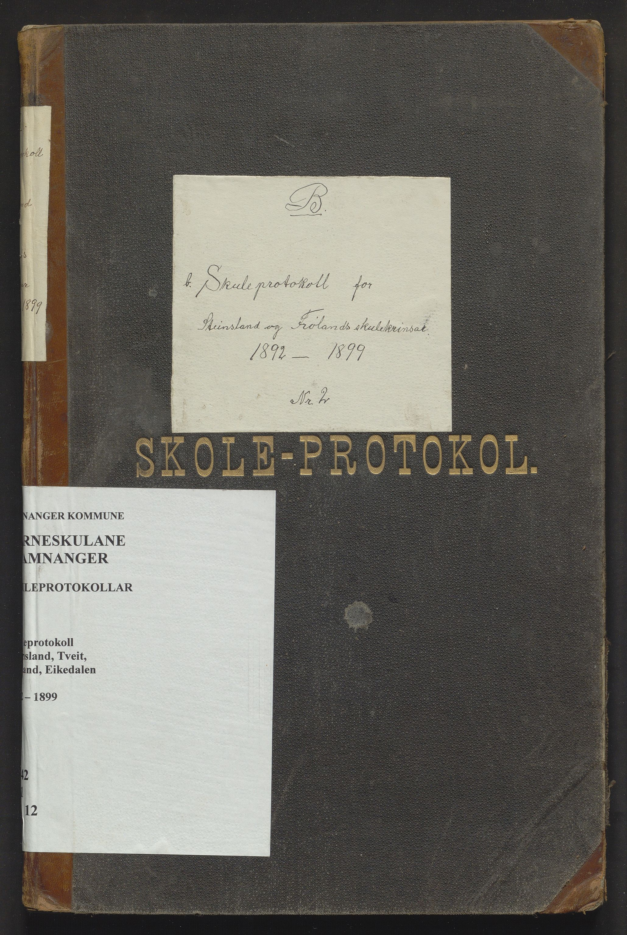 IKAH, Samnanger kommune. Barneskulane, F/Fa/L0012: Skuleprotokoll for læraren i Os prestegjeld, Samnanger sokn for krinsane, 1892-1899