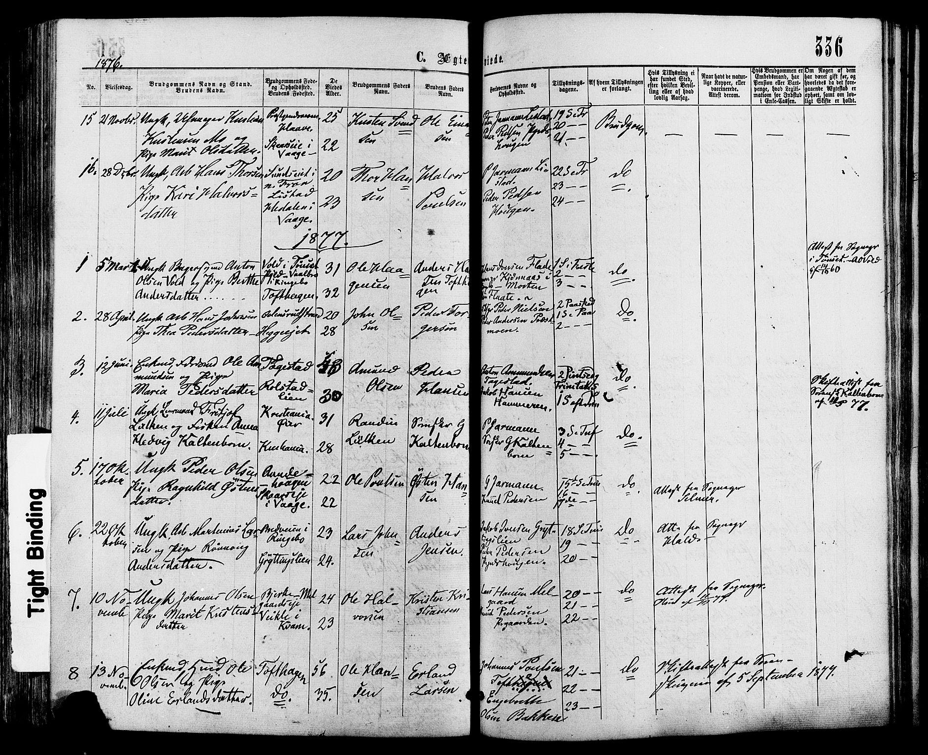 SAH, Sør-Fron prestekontor, H/Ha/Haa/L0002: Ministerialbok nr. 2, 1864-1880, s. 336