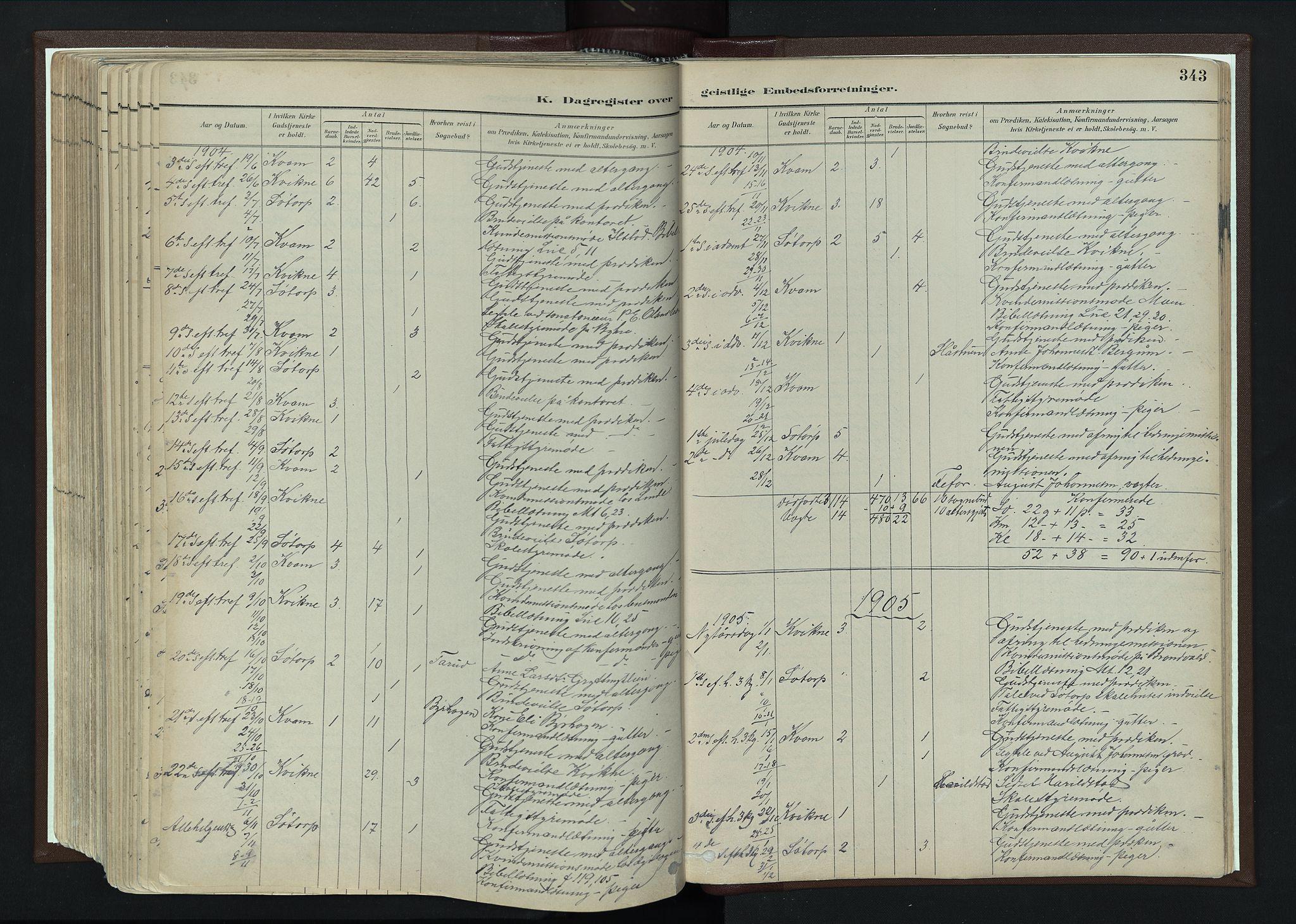 SAH, Nord-Fron prestekontor, Ministerialbok nr. 4, 1884-1914, s. 343
