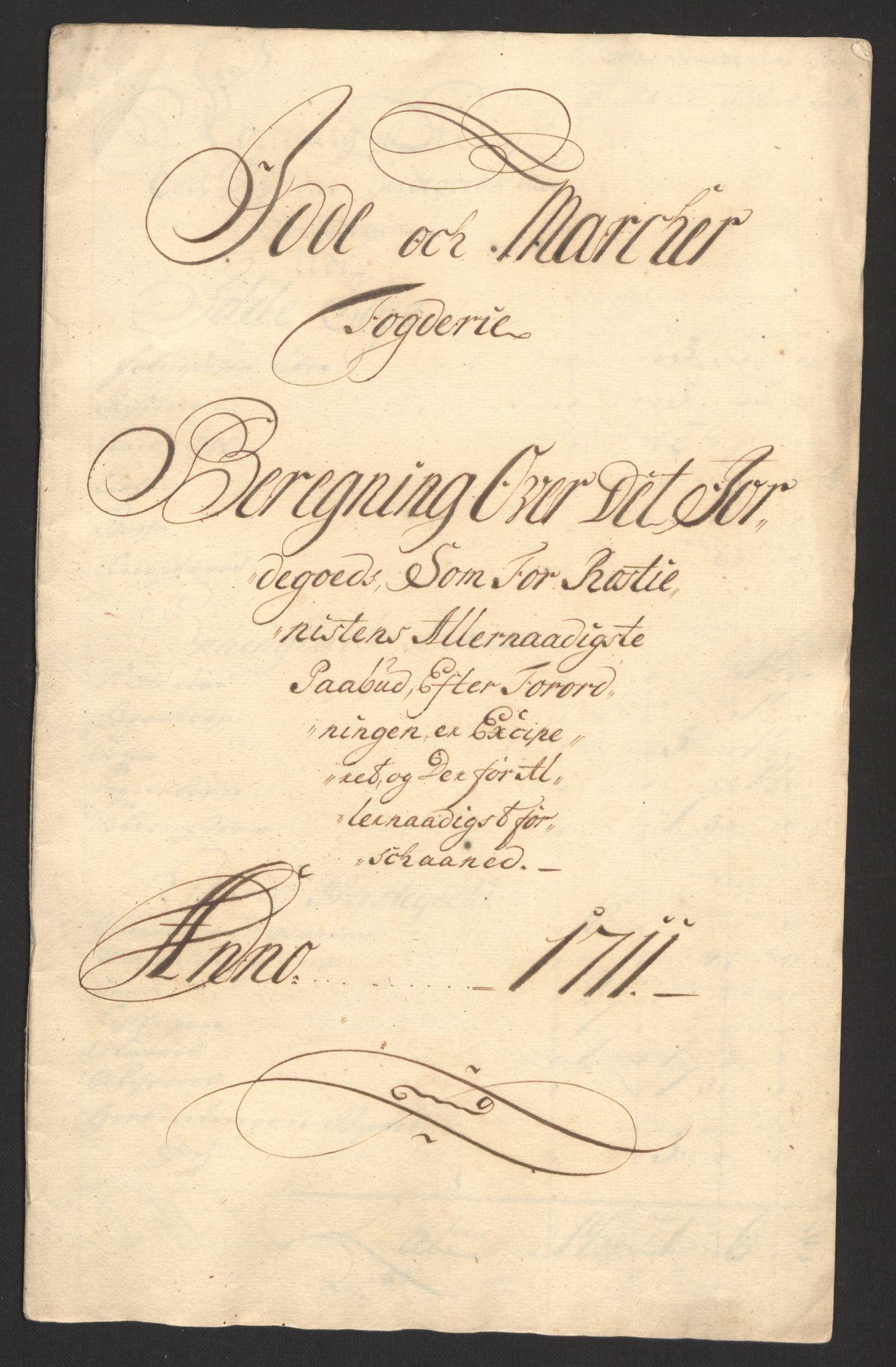 RA, Rentekammeret inntil 1814, Reviderte regnskaper, Fogderegnskap, R01/L0020: Fogderegnskap Idd og Marker, 1711, s. 144