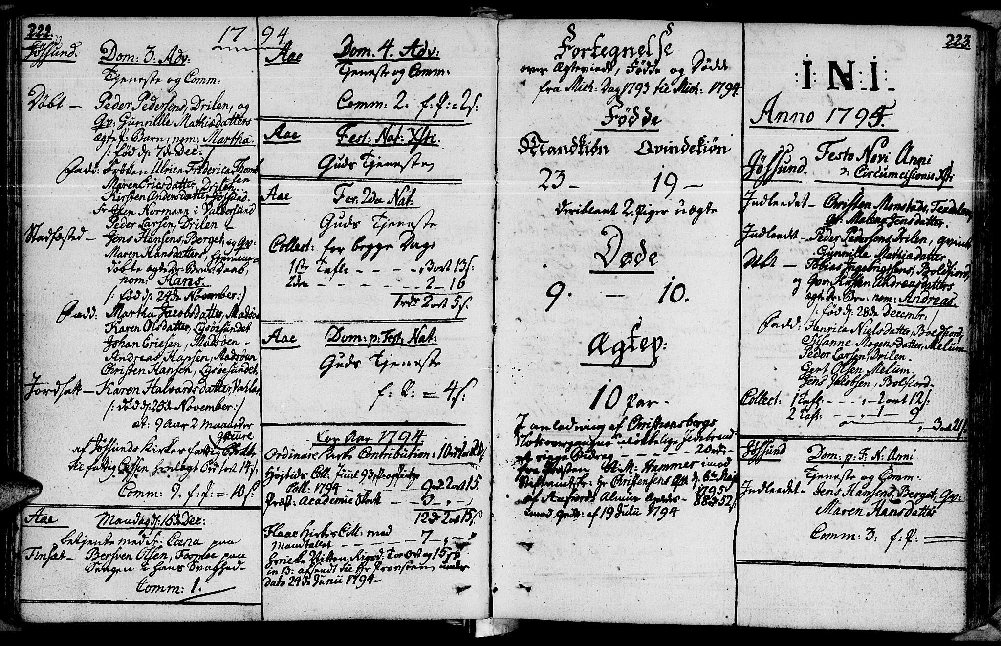 SAT, Ministerialprotokoller, klokkerbøker og fødselsregistre - Sør-Trøndelag, 655/L0673: Ministerialbok nr. 655A02, 1780-1801, s. 222-223