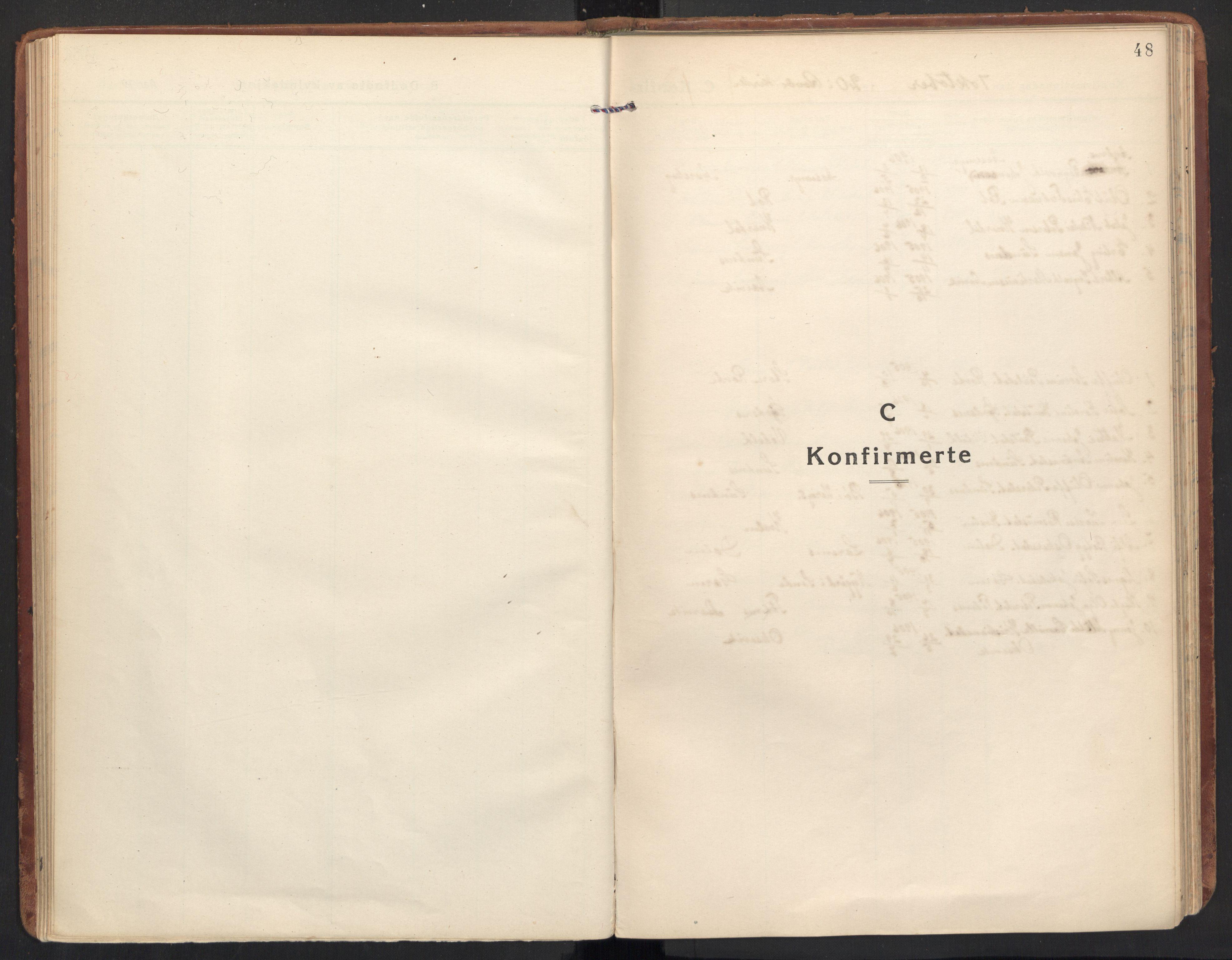 SAT, Ministerialprotokoller, klokkerbøker og fødselsregistre - Møre og Romsdal, 504/L0058: Ministerialbok nr. 504A05, 1920-1940, s. 48