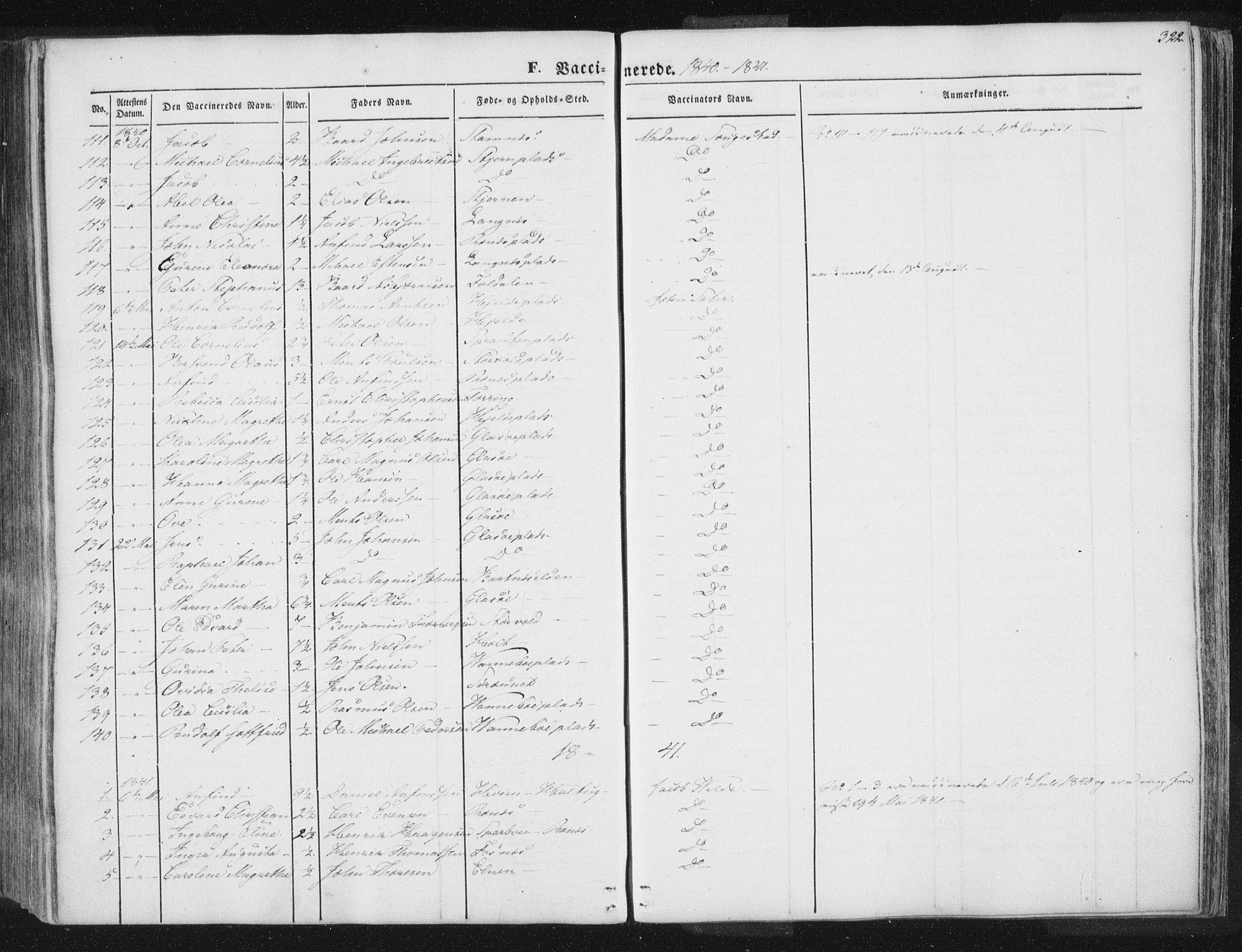 SAT, Ministerialprotokoller, klokkerbøker og fødselsregistre - Nord-Trøndelag, 741/L0392: Ministerialbok nr. 741A06, 1836-1848, s. 322