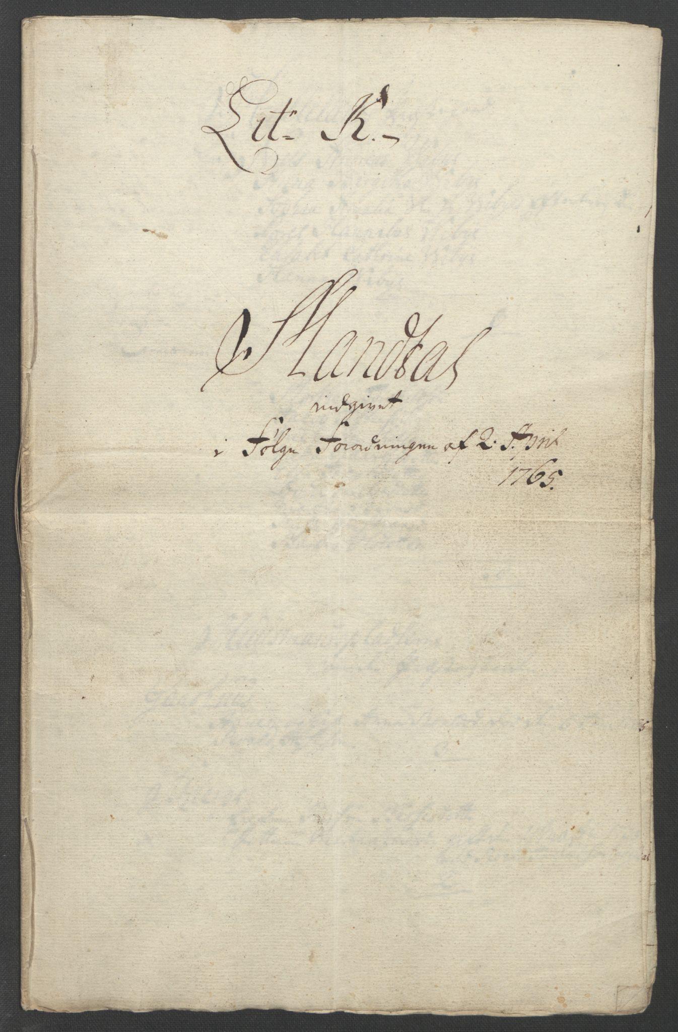 RA, Rentekammeret inntil 1814, Reviderte regnskaper, Fogderegnskap, R46/L2836: Ekstraskatten Jæren og Dalane, 1764-1766, s. 220
