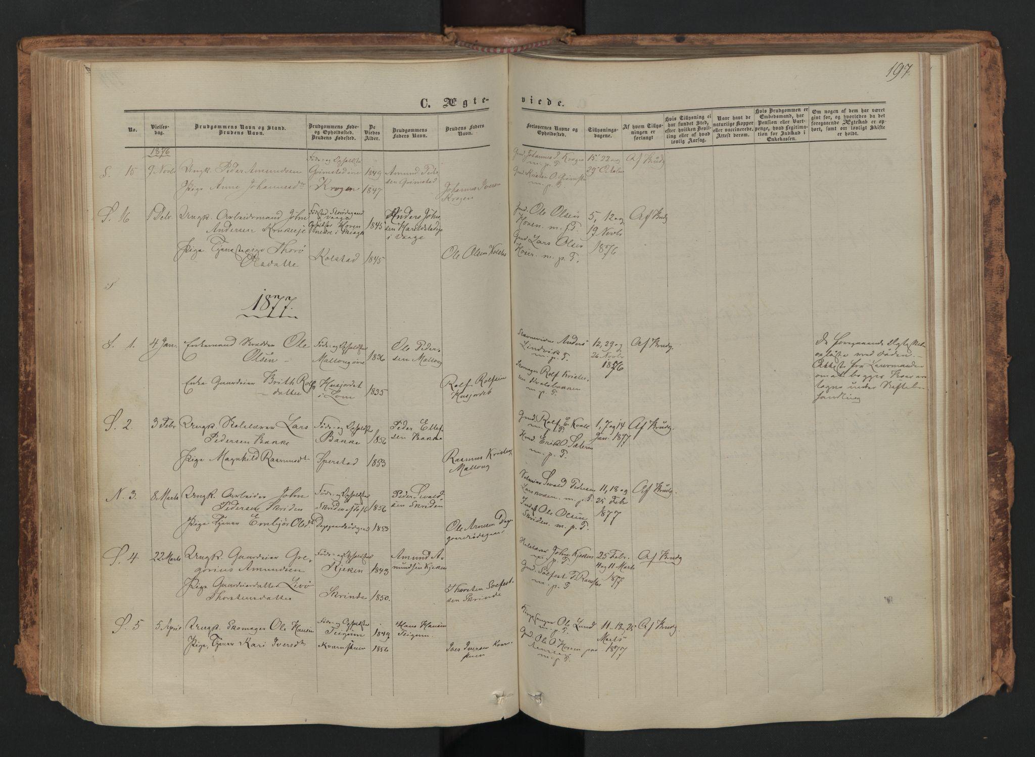 SAH, Skjåk prestekontor, Ministerialbok nr. 1, 1863-1879, s. 197