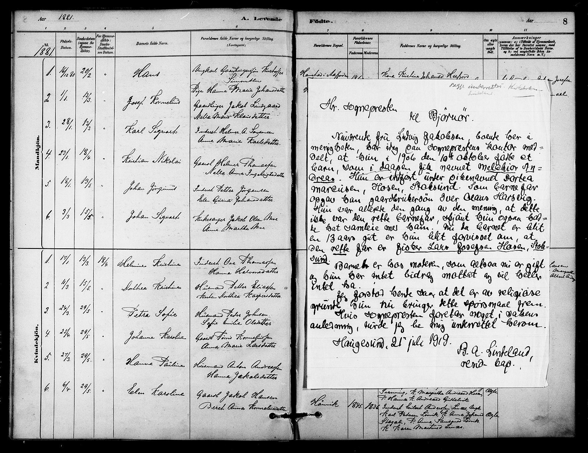 SAT, Ministerialprotokoller, klokkerbøker og fødselsregistre - Sør-Trøndelag, 656/L0692: Ministerialbok nr. 656A01, 1879-1893, s. 8