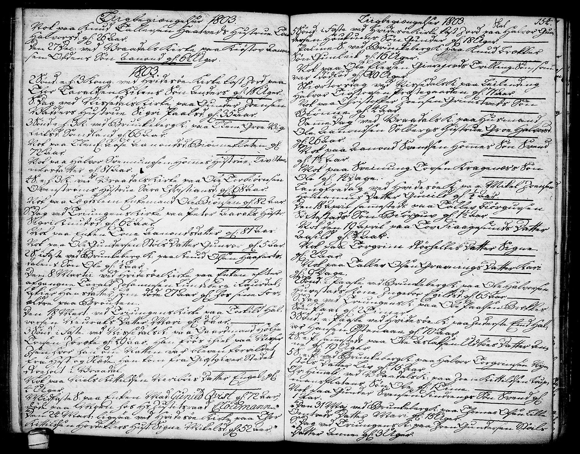 SAKO, Kviteseid kirkebøker, F/Fa/L0004: Ministerialbok nr. I 4, 1800-1814, s. 154