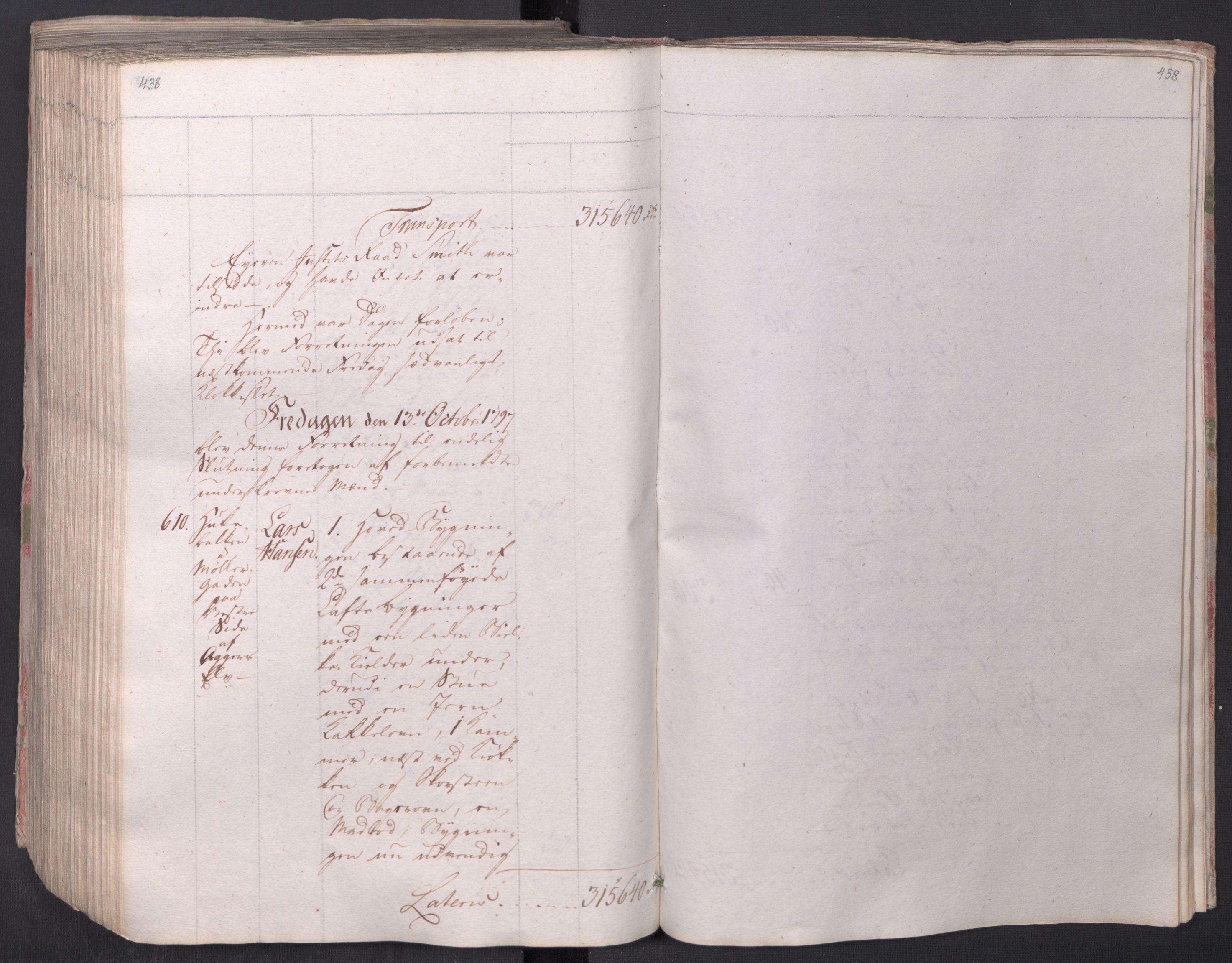 SAO, Kristiania stiftamt, I/Ia/L0015: Branntakster, 1797, s. 438