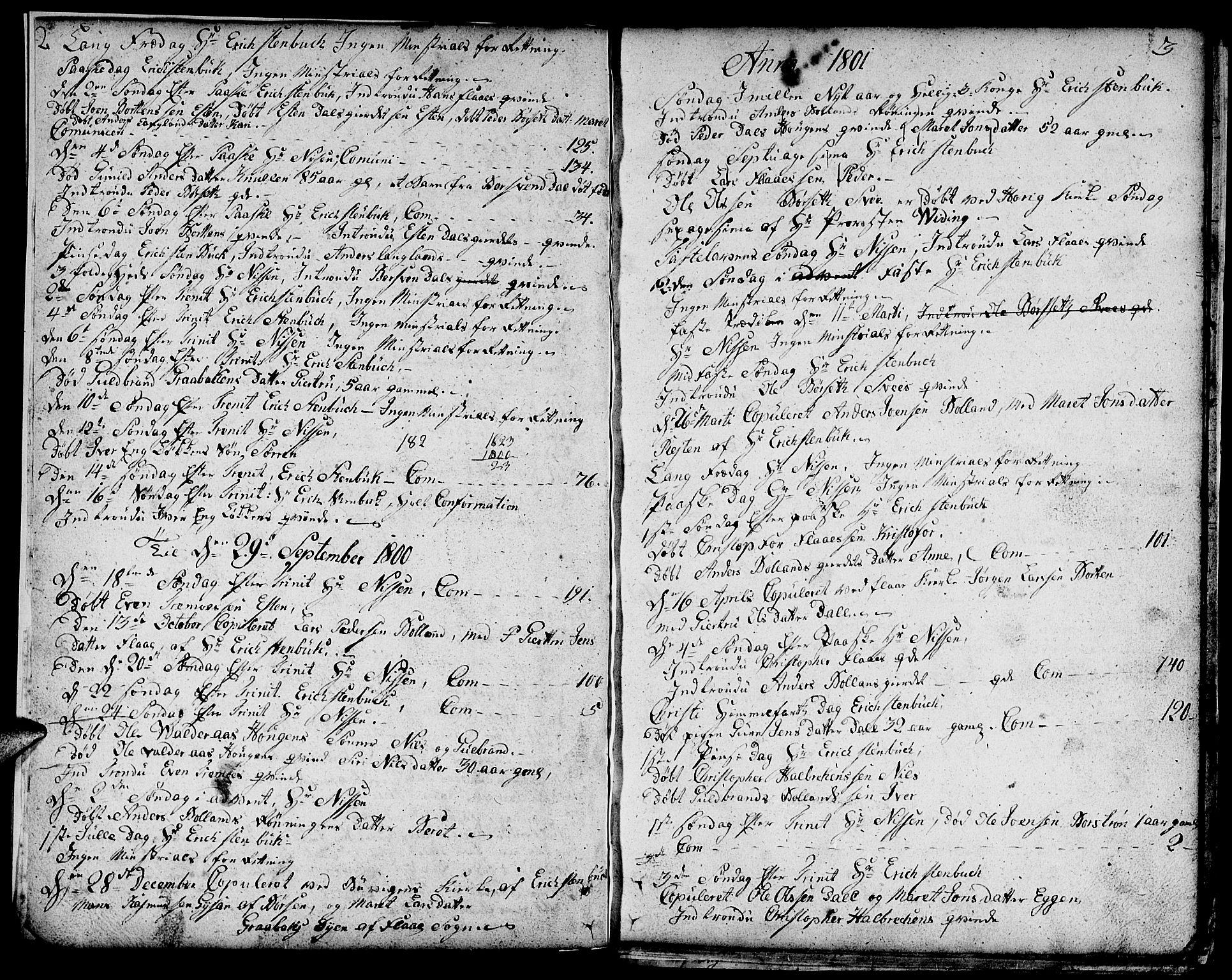 SAT, Ministerialprotokoller, klokkerbøker og fødselsregistre - Sør-Trøndelag, 693/L1120: Klokkerbok nr. 693C01, 1799-1816, s. 2-3