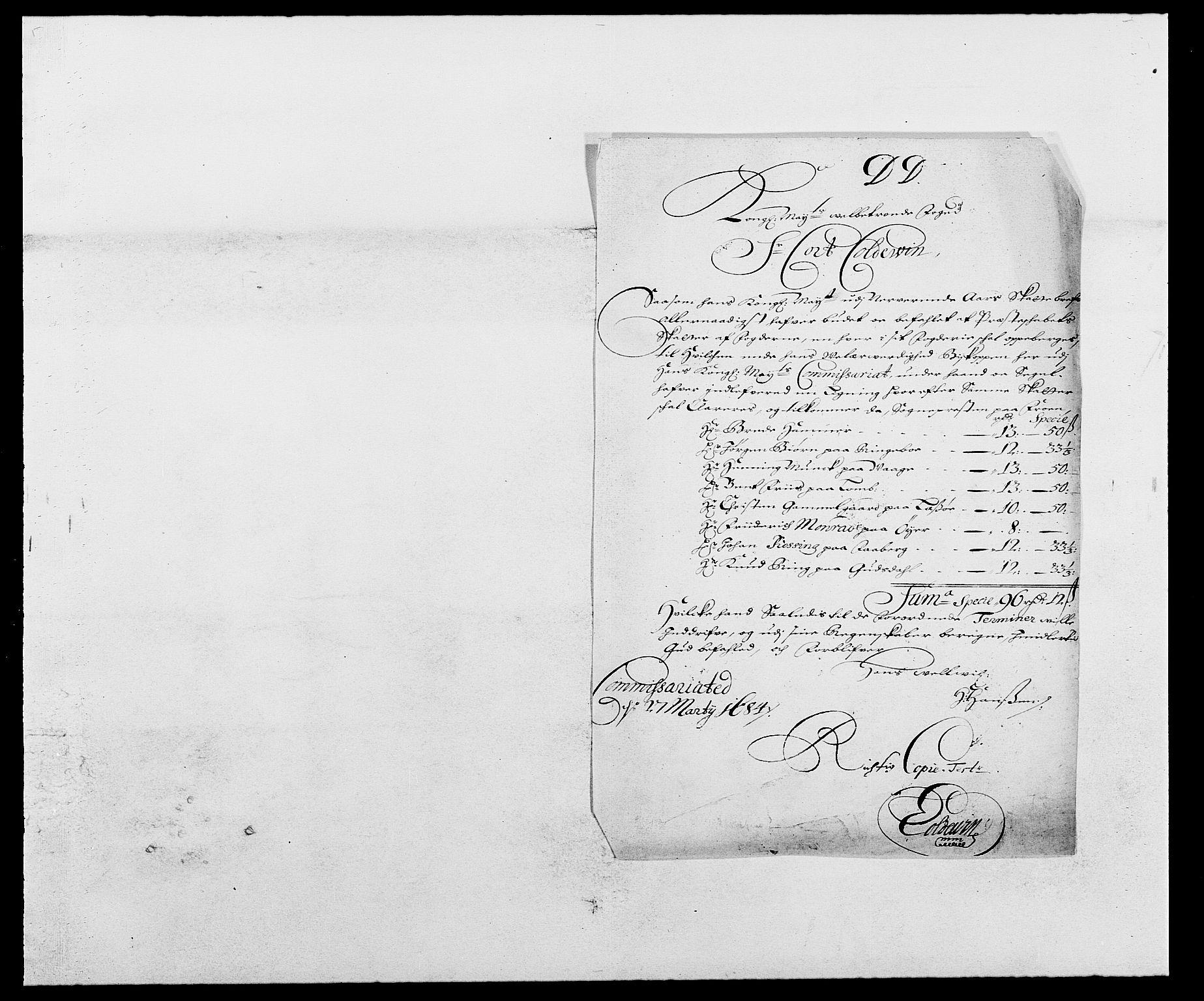 RA, Rentekammeret inntil 1814, Reviderte regnskaper, Fogderegnskap, R17/L1159: Fogderegnskap Gudbrandsdal, 1682-1689, s. 53