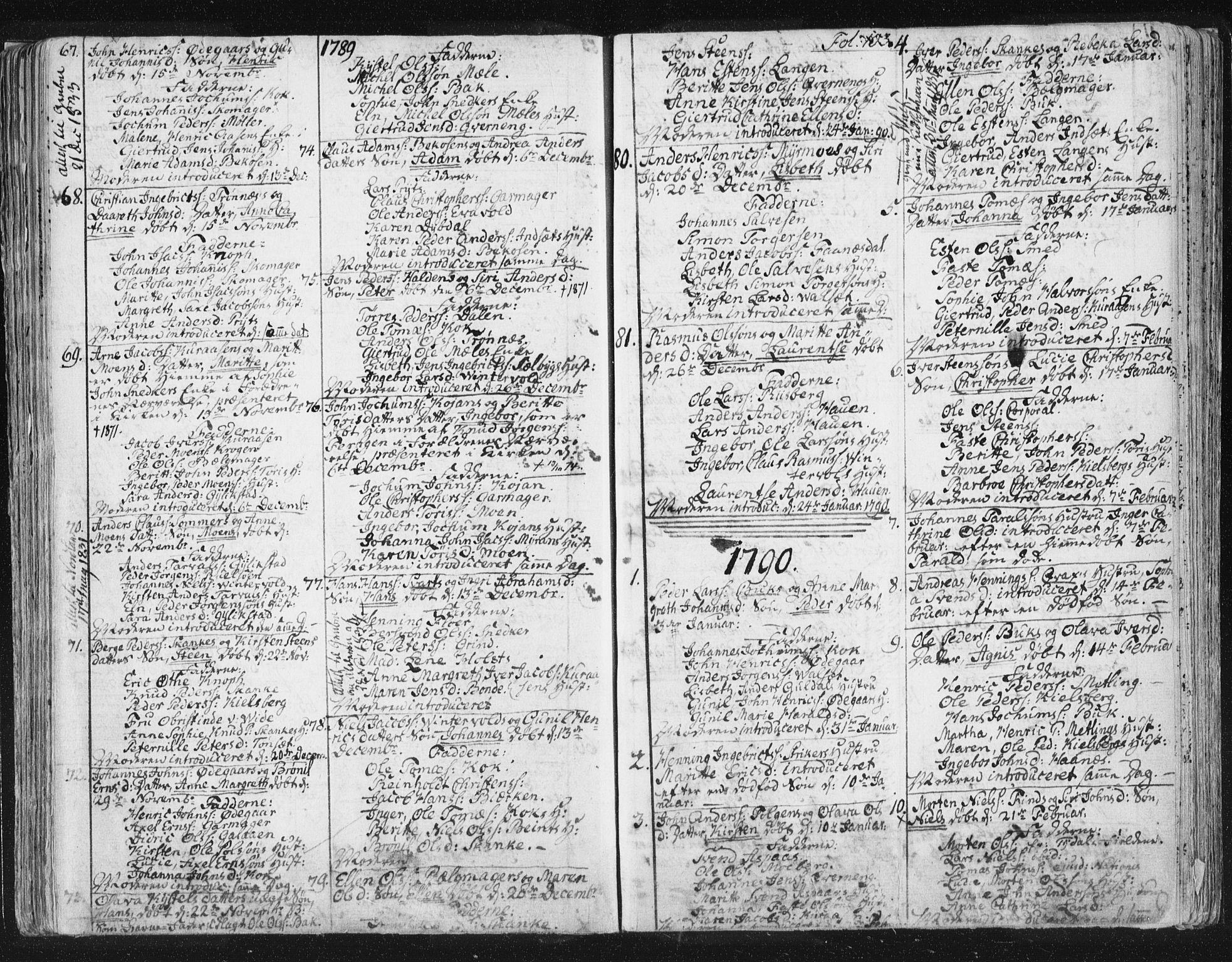 SAT, Ministerialprotokoller, klokkerbøker og fødselsregistre - Sør-Trøndelag, 681/L0926: Ministerialbok nr. 681A04, 1767-1797, s. 103