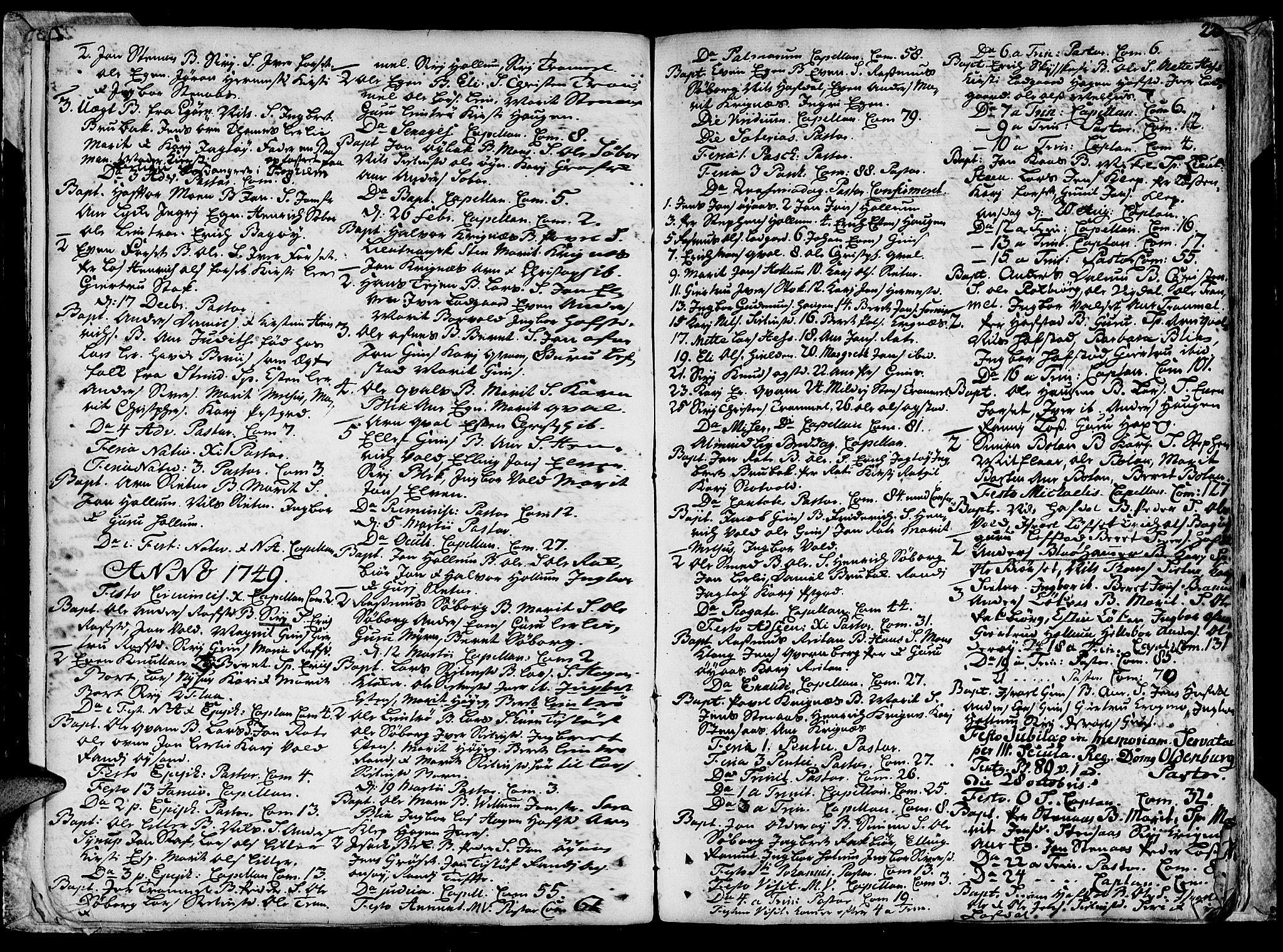 SAT, Ministerialprotokoller, klokkerbøker og fødselsregistre - Sør-Trøndelag, 691/L1057: Ministerialbok nr. 691A01 /1, 1740-1767, s. 23