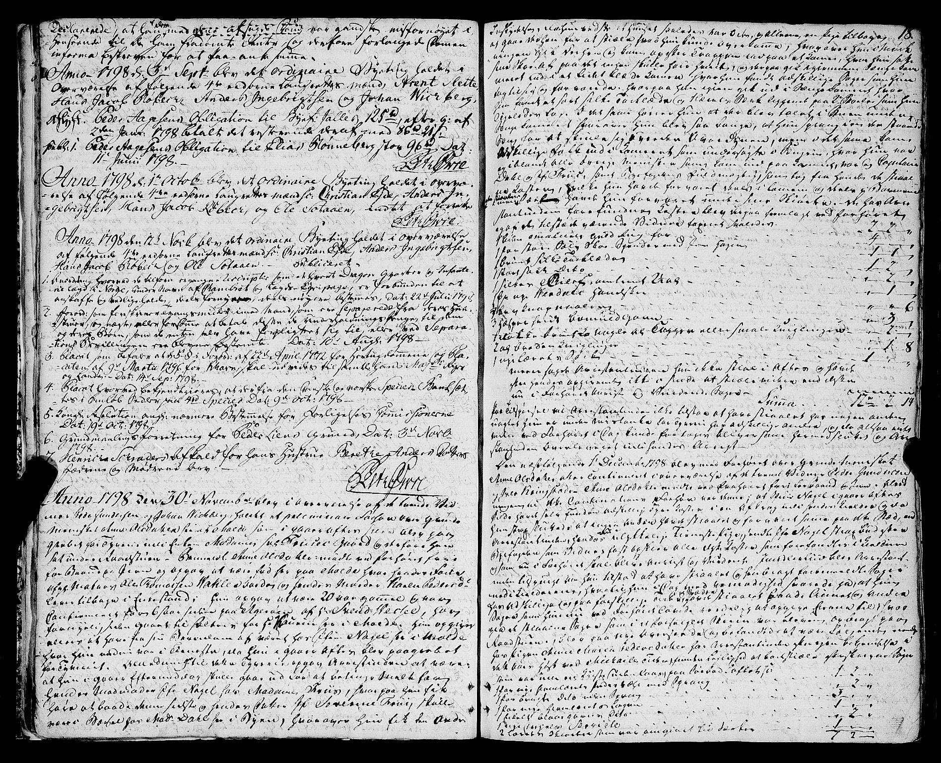 SAT, Molde byfogd, 1/1A/L0002: Justisprotokoll, 1797-1831, s. 17b-18a