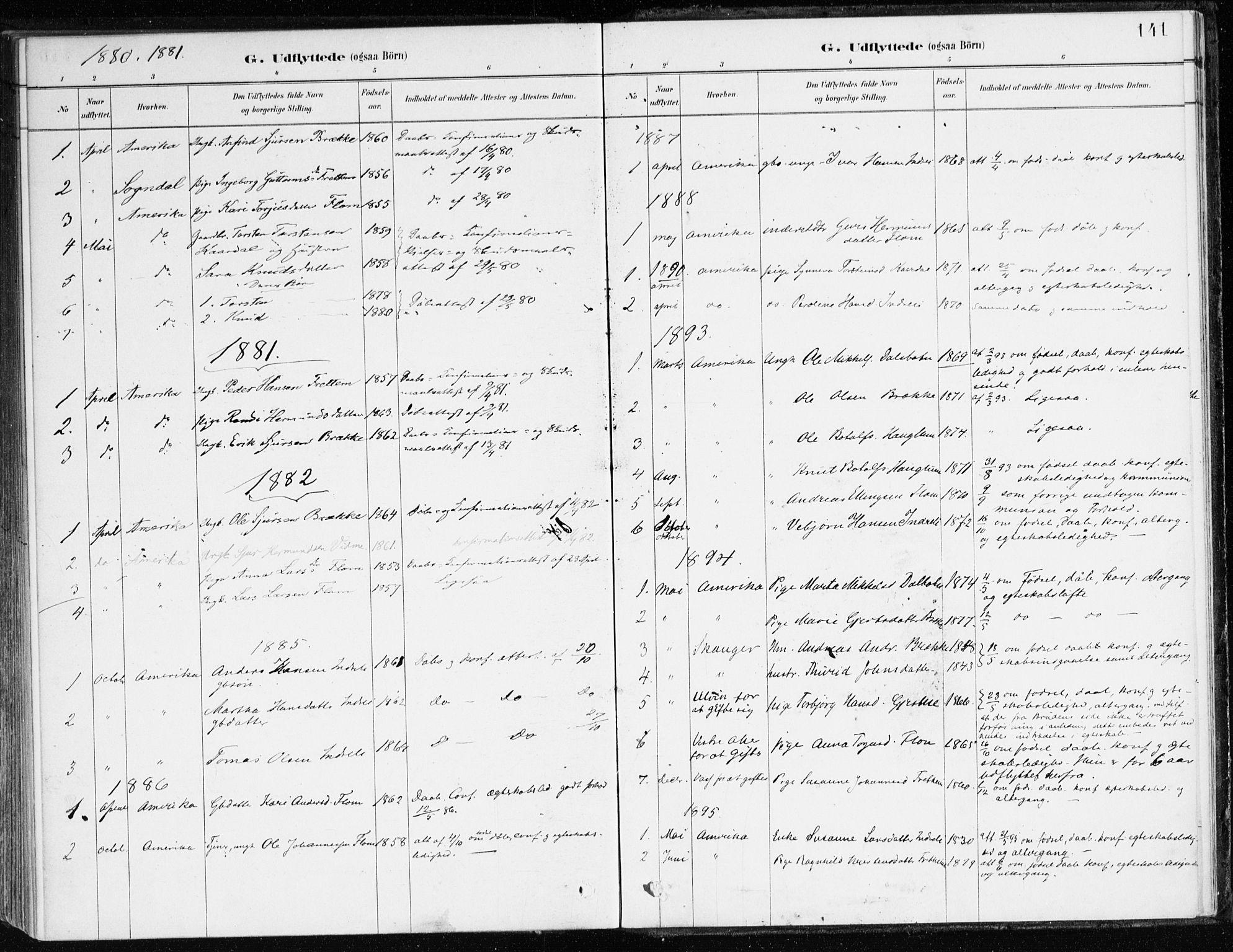 SAB, Aurland Sokneprestembete*, Ministerialbok nr. C 1, 1880-1921, s. 141
