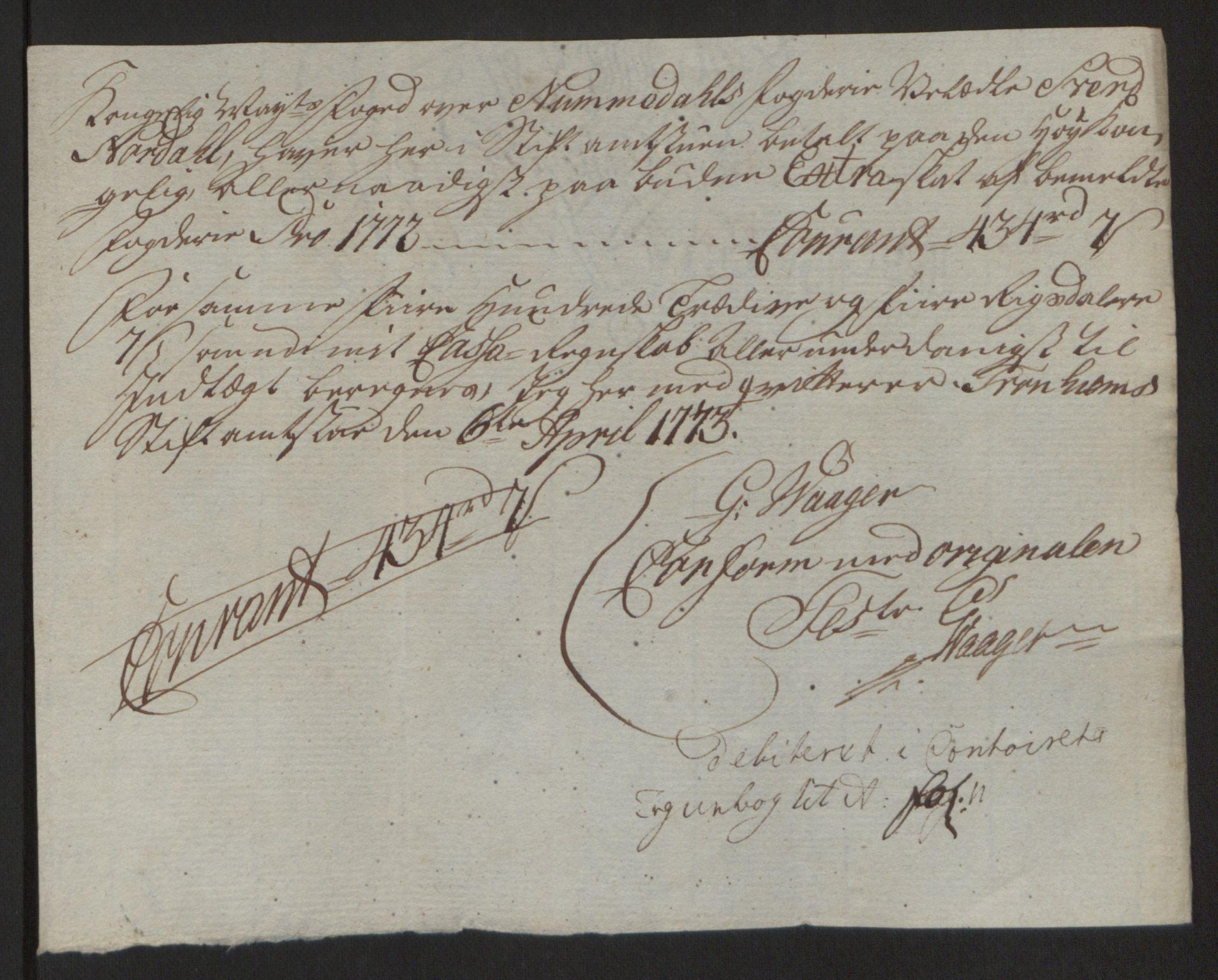 RA, Rentekammeret inntil 1814, Reviderte regnskaper, Fogderegnskap, R64/L4502: Ekstraskatten Namdal, 1762-1772, s. 467