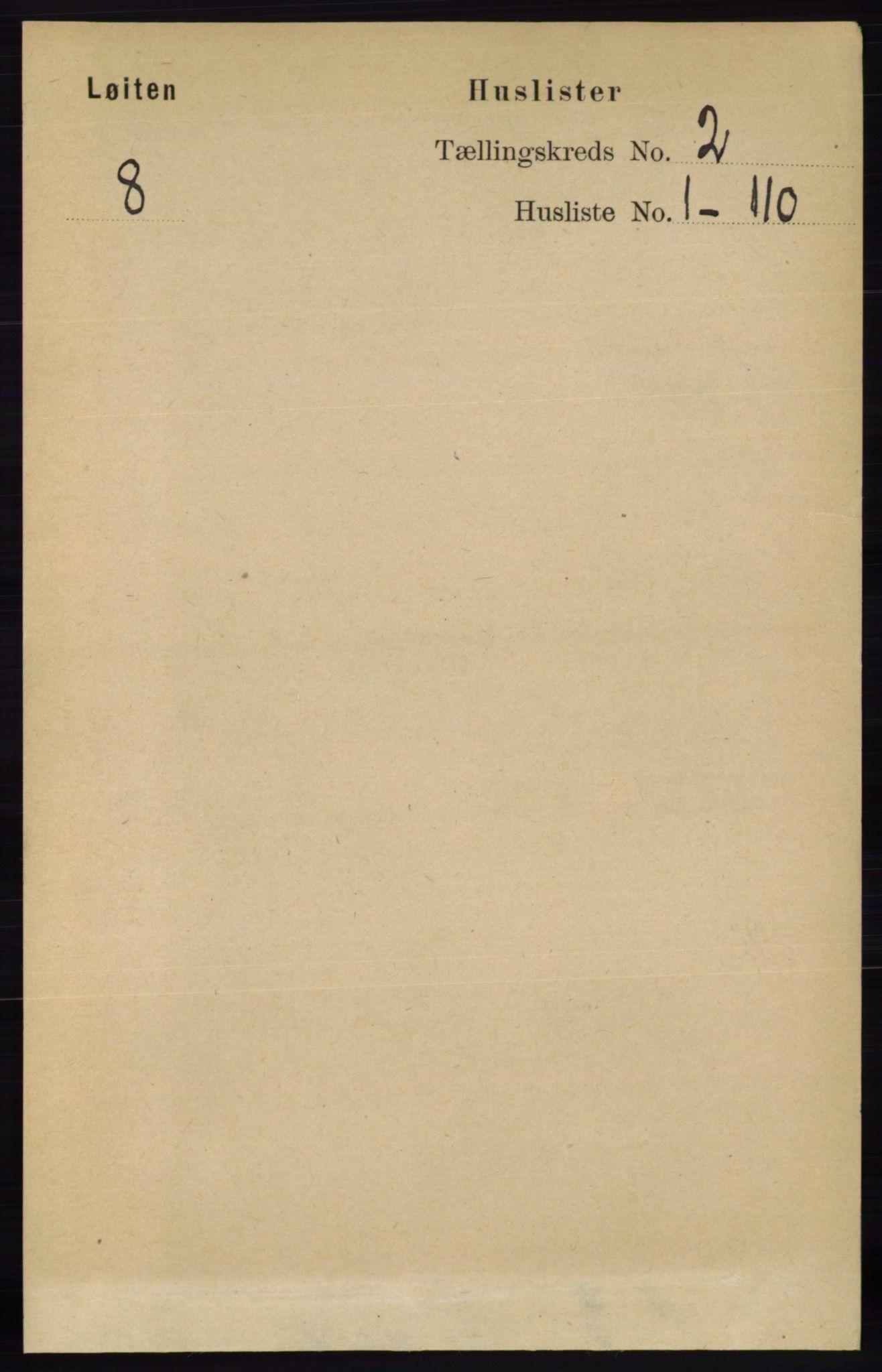 RA, Folketelling 1891 for 0415 Løten herred, 1891, s. 1372
