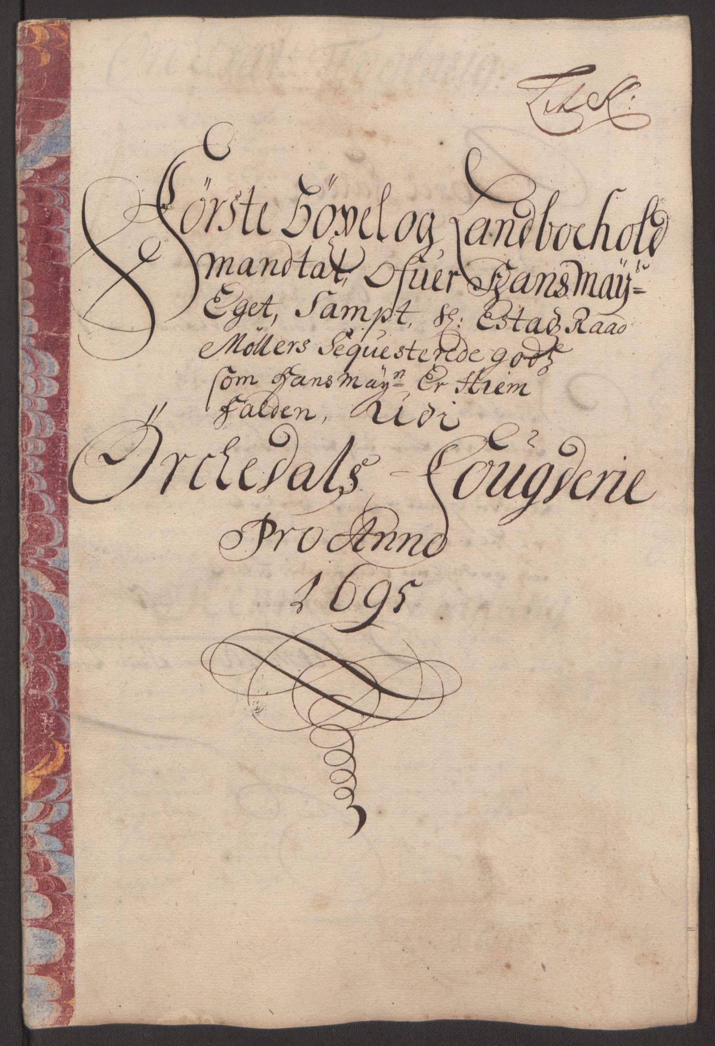 RA, Rentekammeret inntil 1814, Reviderte regnskaper, Fogderegnskap, R60/L3945: Fogderegnskap Orkdal og Gauldal, 1695, s. 178