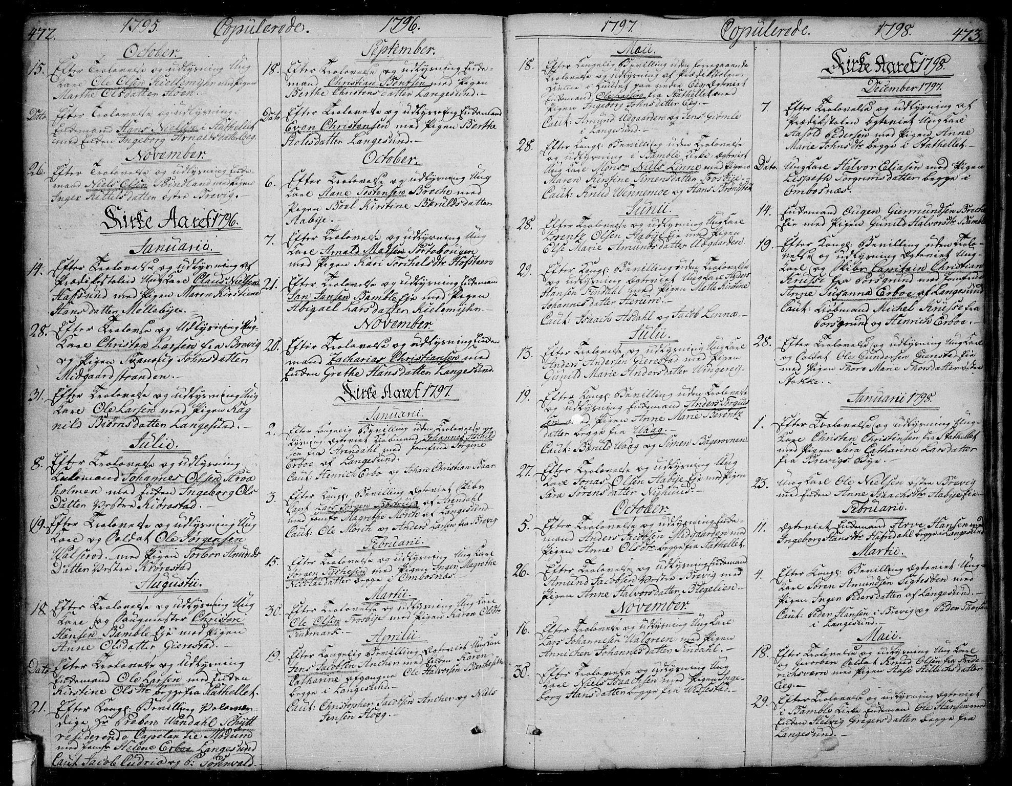 SAKO, Bamble kirkebøker, F/Fa/L0002: Ministerialbok nr. I 2, 1775-1814, s. 472-473