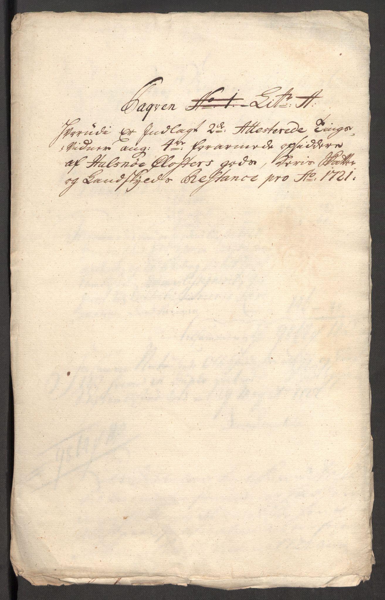 RA, Rentekammeret inntil 1814, Reviderte regnskaper, Fogderegnskap, R48/L3000: Fogderegnskap Sunnhordland og Hardanger, 1721, s. 437