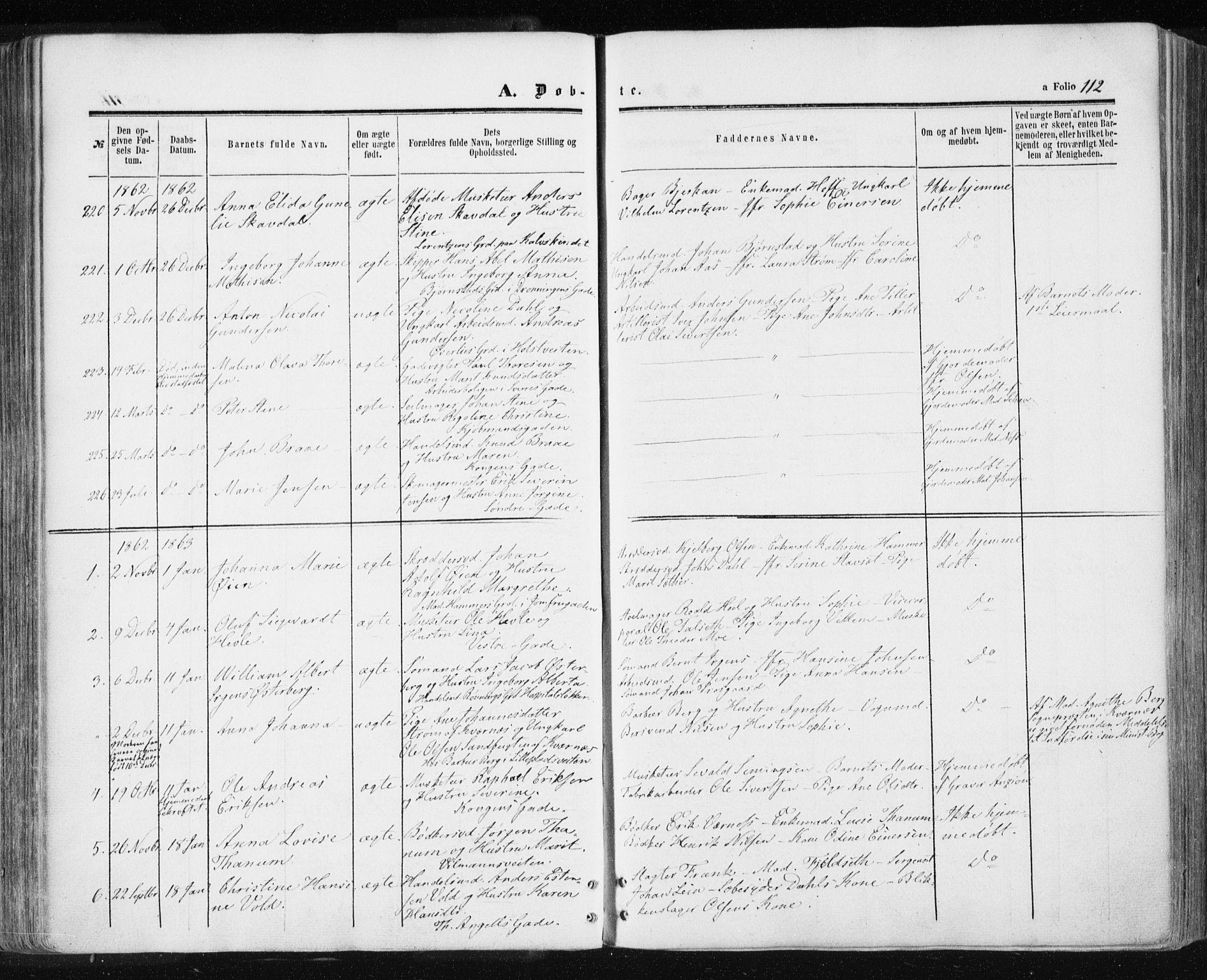 SAT, Ministerialprotokoller, klokkerbøker og fødselsregistre - Sør-Trøndelag, 601/L0053: Ministerialbok nr. 601A21, 1857-1865, s. 112