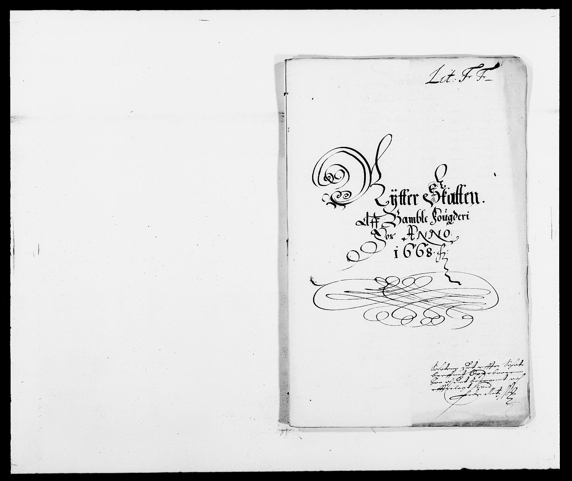 RA, Rentekammeret inntil 1814, Reviderte regnskaper, Fogderegnskap, R34/L2040: Fogderegnskap Bamble, 1662-1669, s. 27