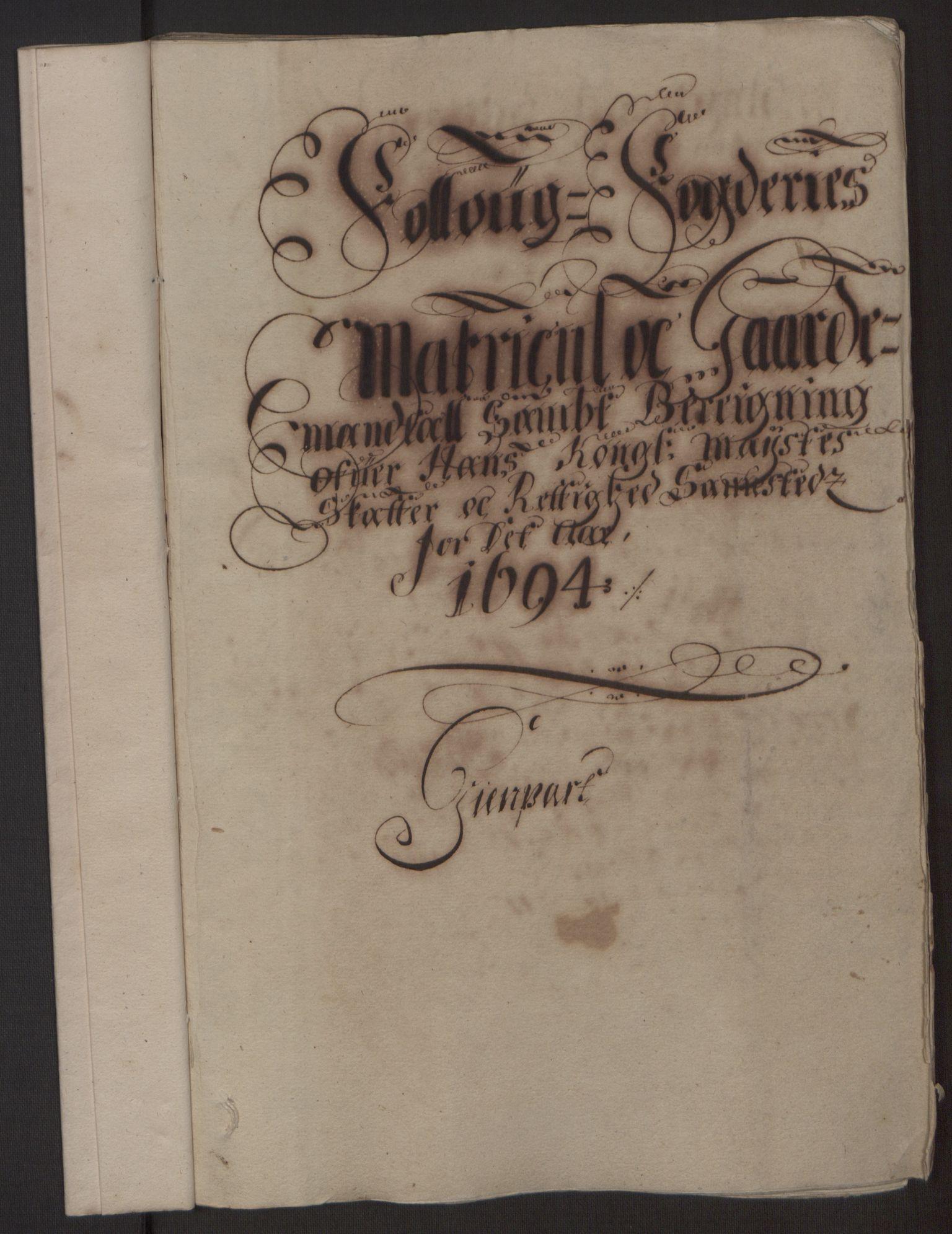 RA, Rentekammeret inntil 1814, Reviderte regnskaper, Fogderegnskap, R10/L0438: Fogderegnskap Aker og Follo, 1694, s. 70