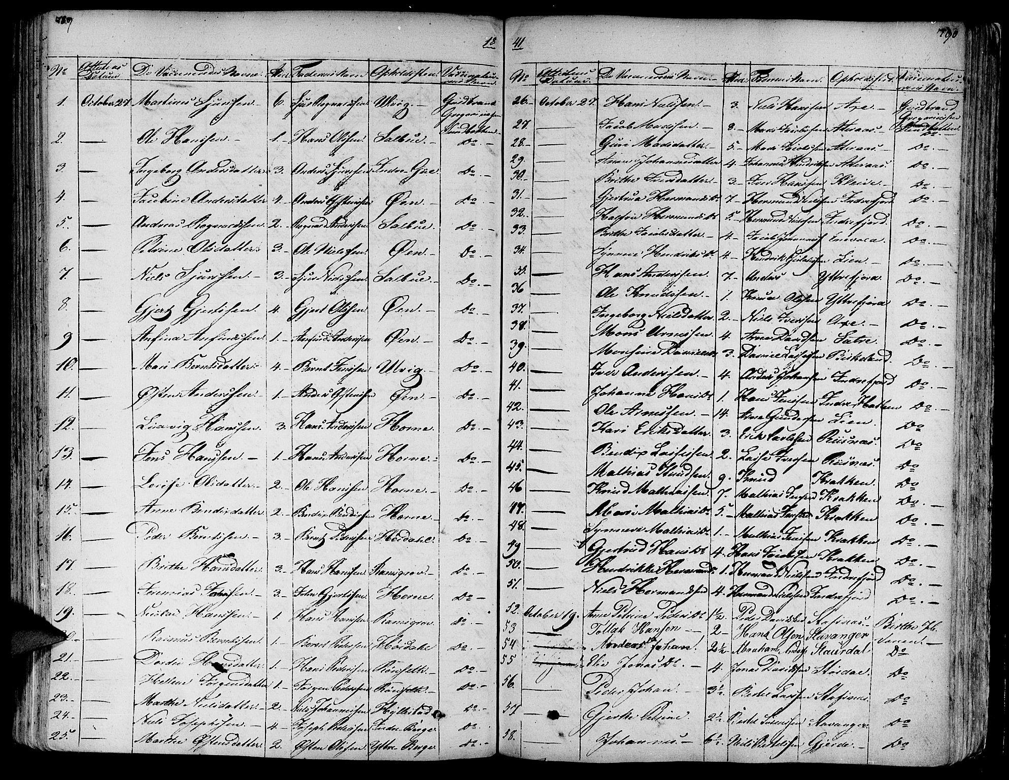 SAB, Askvoll Sokneprestembete, Ministerialbok nr. A 10, 1821-1844, s. 789-790