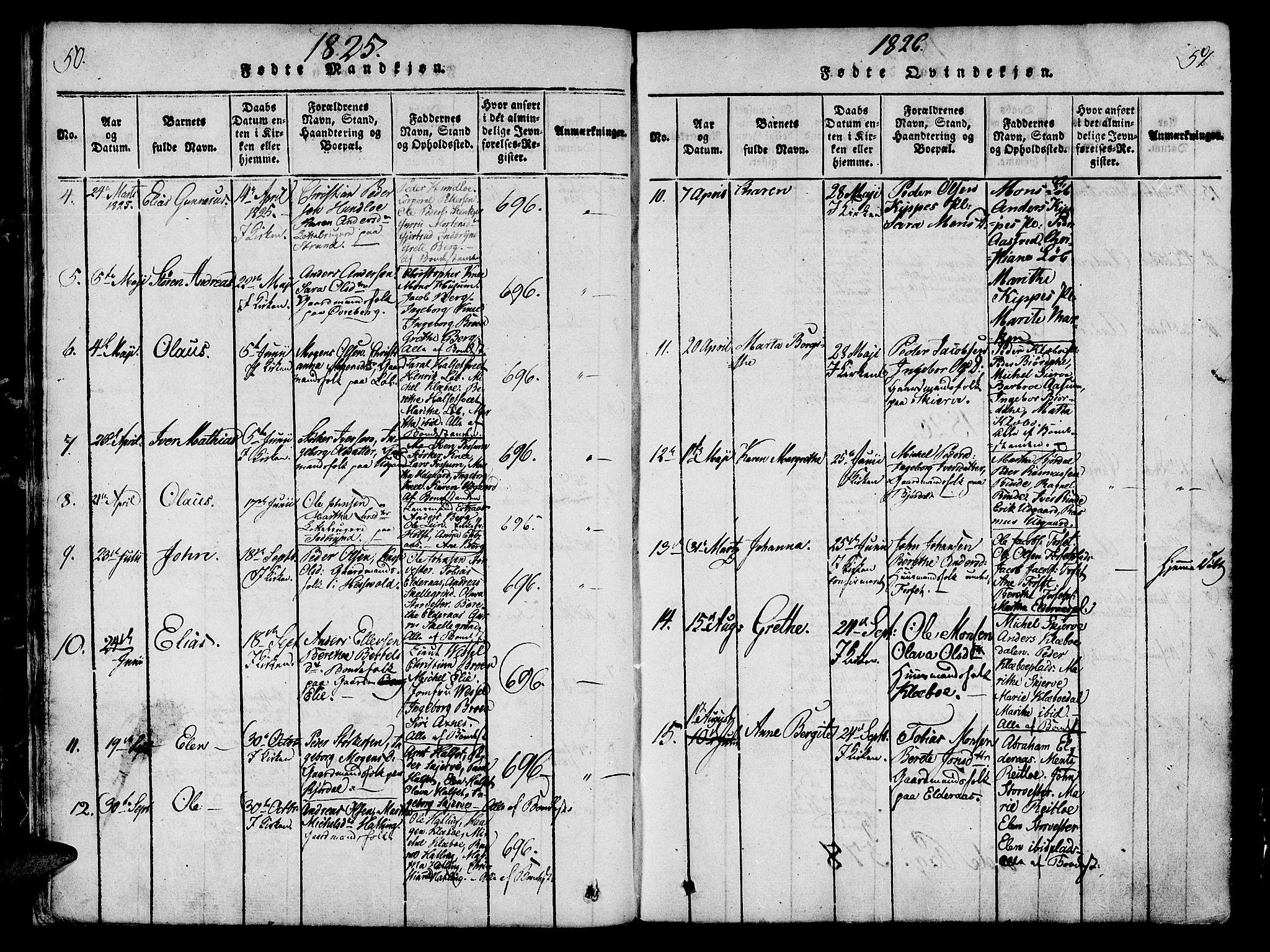 SAT, Ministerialprotokoller, klokkerbøker og fødselsregistre - Nord-Trøndelag, 746/L0441: Ministerialbok nr. 746A03 /1, 1816-1827, s. 50-51