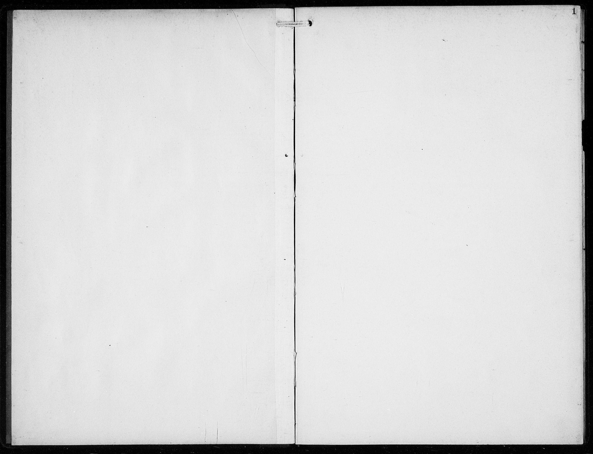 SAB, Voss Sokneprestembete, H/Hab: Klokkerbok nr. F  2, 1913-1932, s. 1