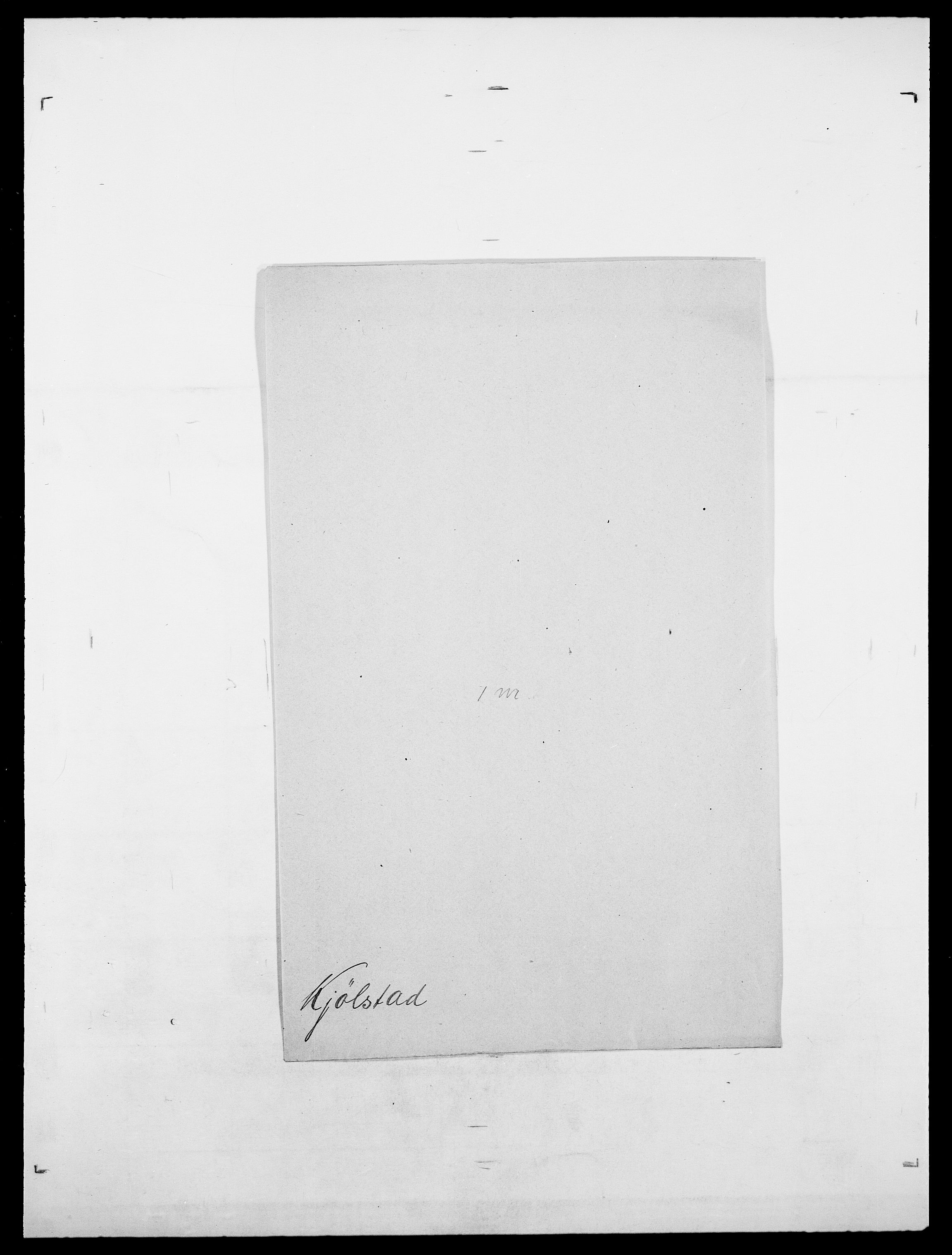 SAO, Delgobe, Charles Antoine - samling, D/Da/L0020: Irgens - Kjøsterud, s. 831