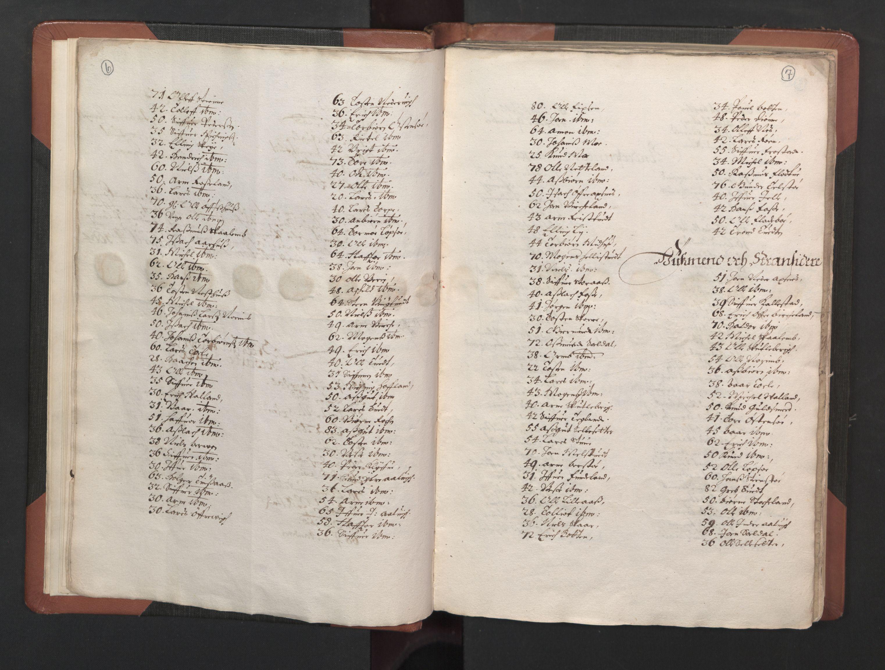 RA, Fogdenes og sorenskrivernes manntall 1664-1666, nr. 14: Hardanger len, Ytre Sogn fogderi og Indre Sogn fogderi, 1664-1665, s. 6-7