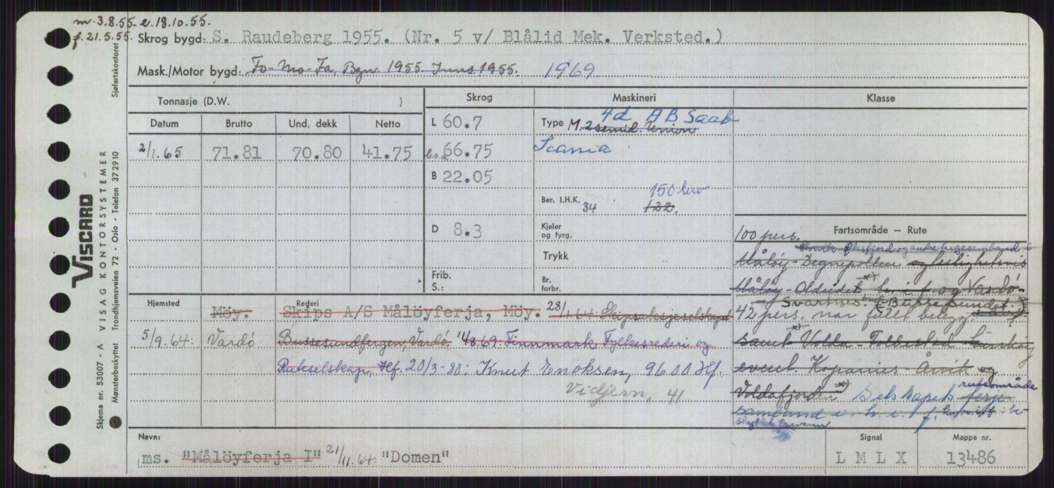 RA, Sjøfartsdirektoratet med forløpere, Skipsmålingen, H/Ha/L0001: Fartøy, A-Eig, s. 853