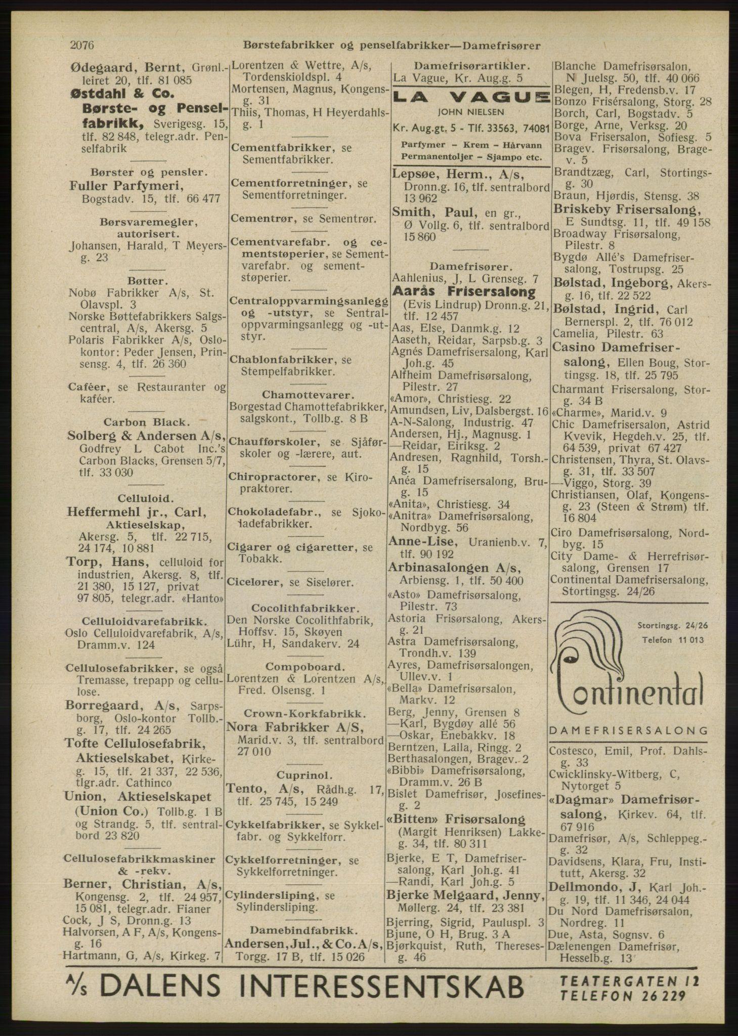 RA, Oslo adressebok (publikasjon)*, 1946, s. 2076