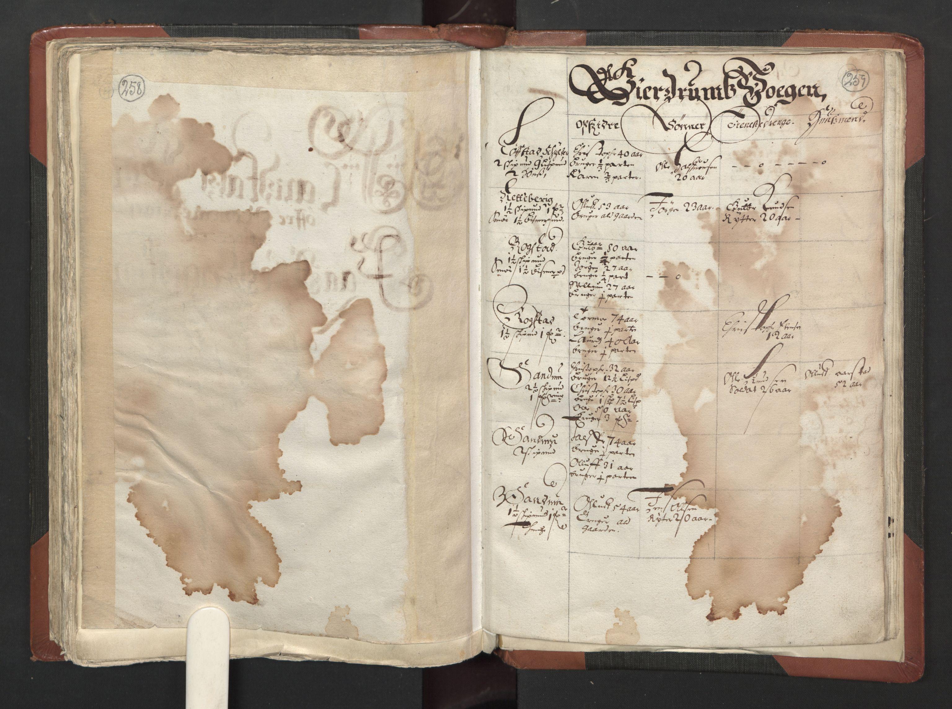 RA, Fogdenes og sorenskrivernes manntall 1664-1666, nr. 2: Aker fogderi, Follo fogderi, Nedre Romerike fogderi og Øvre Romerike fogderi, 1664, s. 258-259