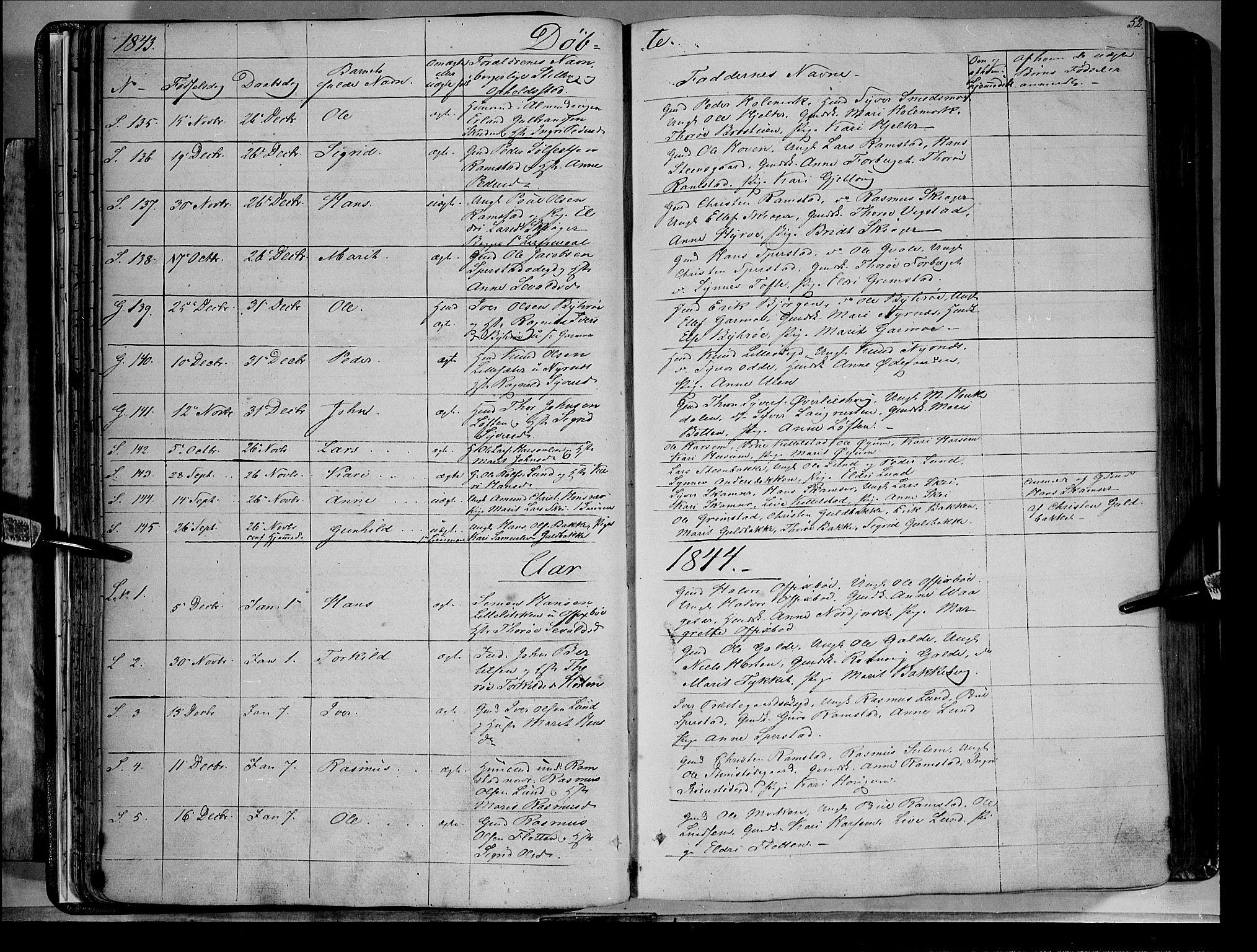 SAH, Lom prestekontor, K/L0006: Ministerialbok nr. 6A, 1837-1863, s. 52