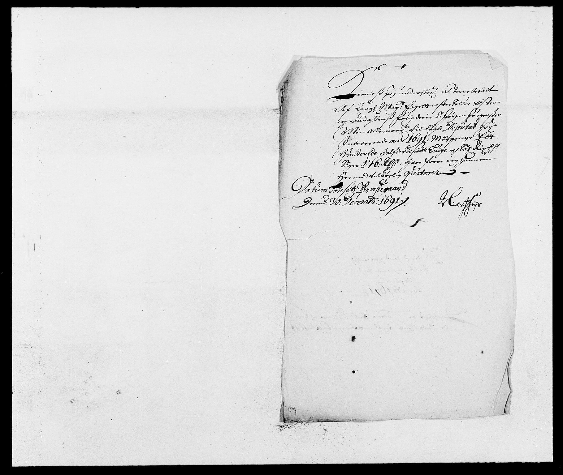RA, Rentekammeret inntil 1814, Reviderte regnskaper, Fogderegnskap, R13/L0829: Fogderegnskap Solør, Odal og Østerdal, 1691, s. 41