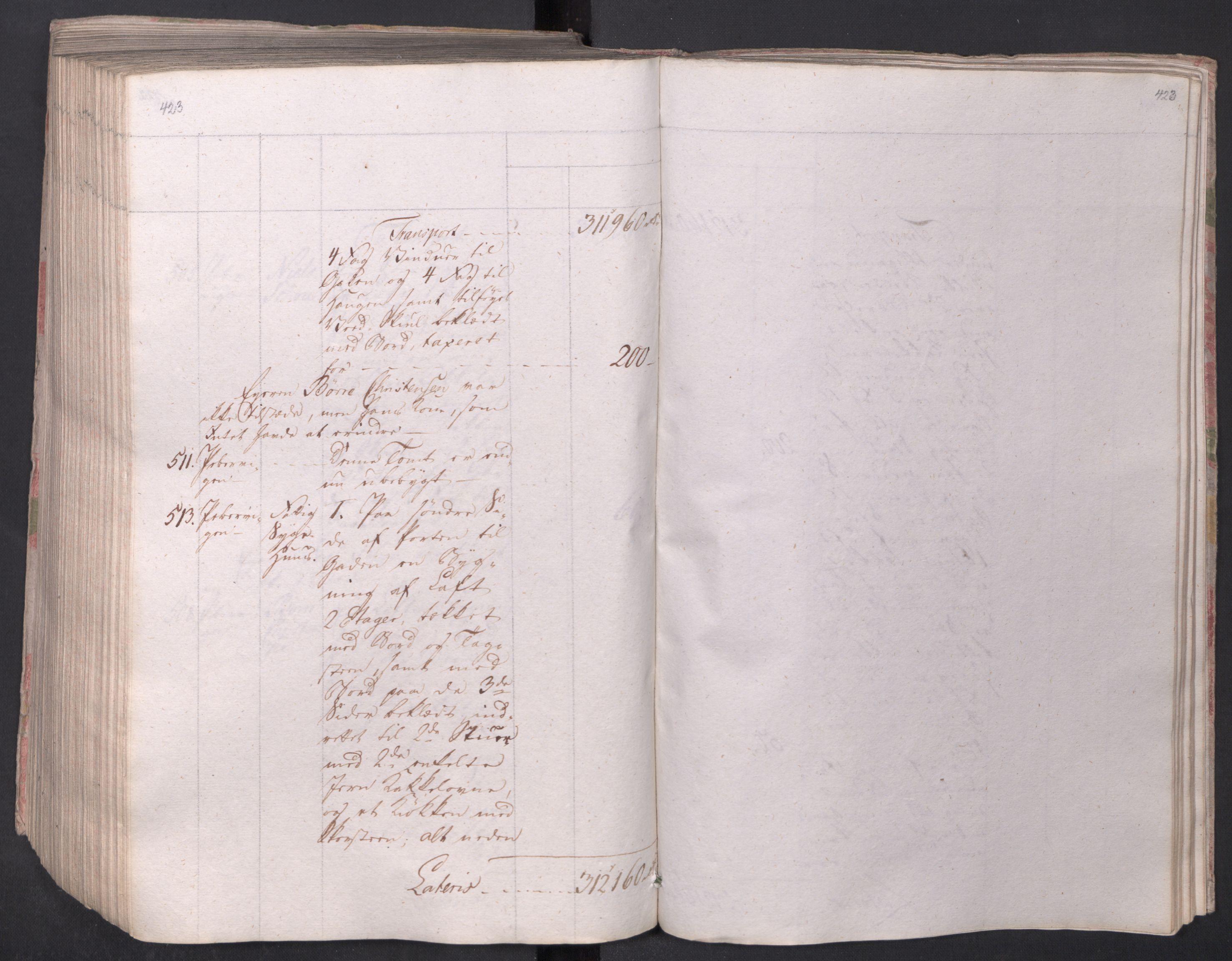 SAO, Kristiania stiftamt, I/Ia/L0015: Branntakster, 1797, s. 423