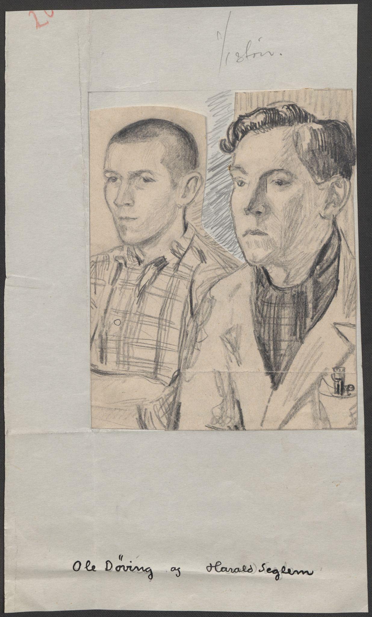 RA, Grøgaard, Joachim, F/L0002: Tegninger og tekster, 1942-1945, s. 87