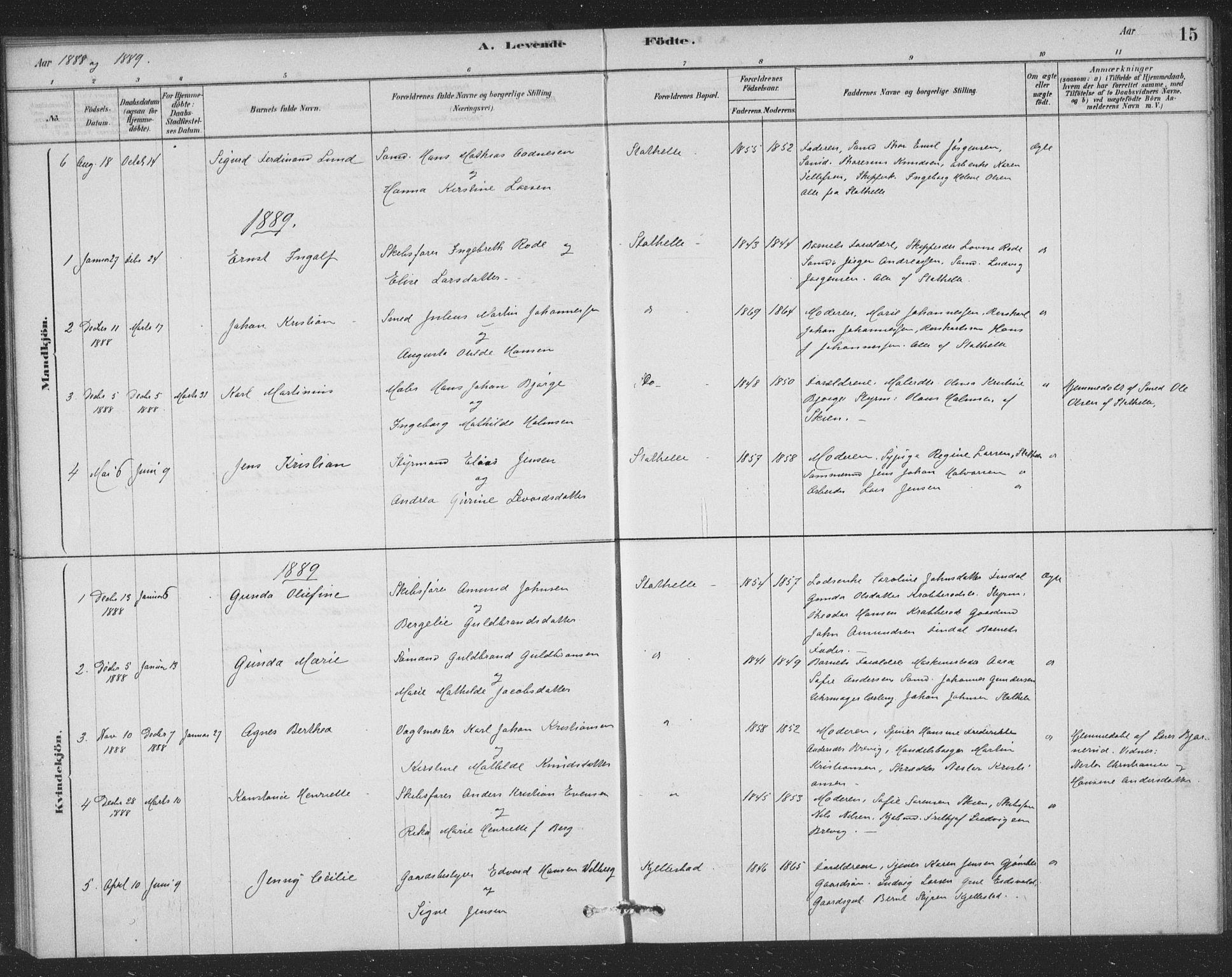 SAKO, Bamble kirkebøker, F/Fb/L0001: Ministerialbok nr. II 1, 1878-1899, s. 15