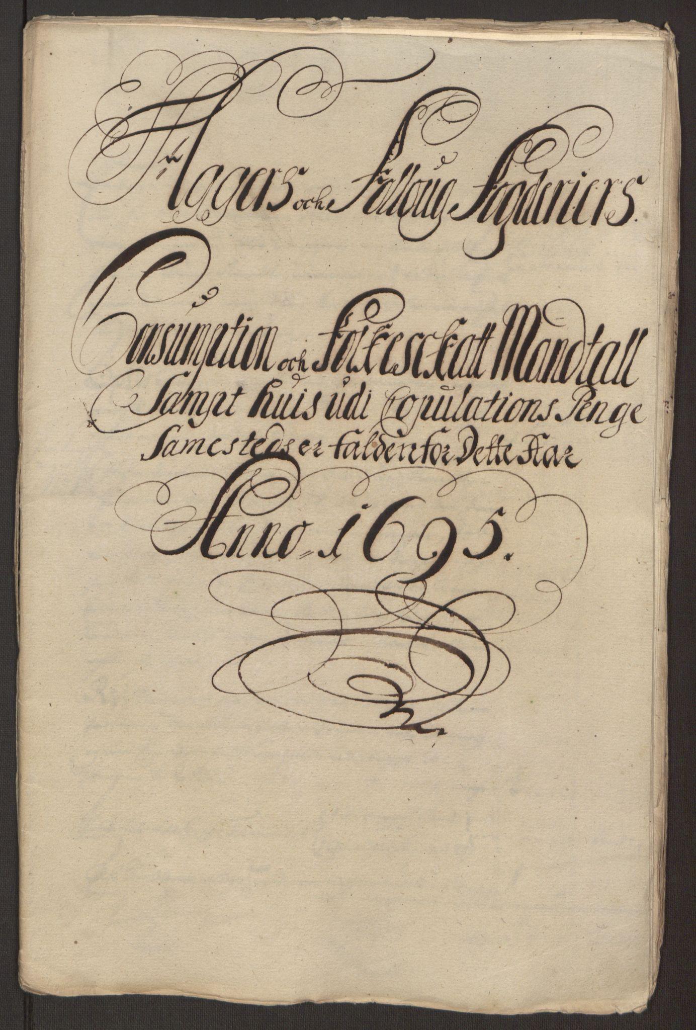 RA, Rentekammeret inntil 1814, Reviderte regnskaper, Fogderegnskap, R10/L0439: Fogderegnskap Aker og Follo, 1695, s. 190