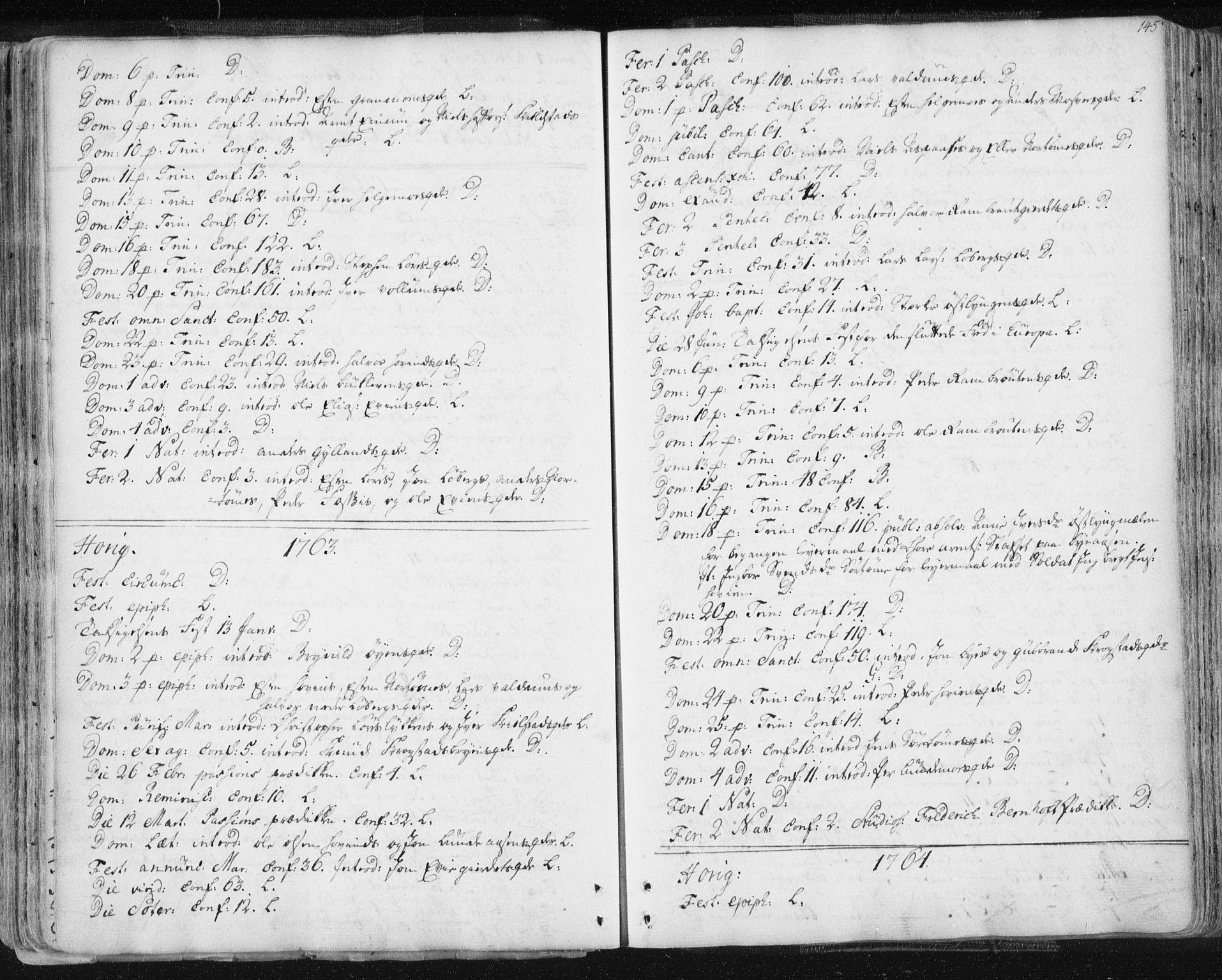 SAT, Ministerialprotokoller, klokkerbøker og fødselsregistre - Sør-Trøndelag, 687/L0991: Ministerialbok nr. 687A02, 1747-1790, s. 145