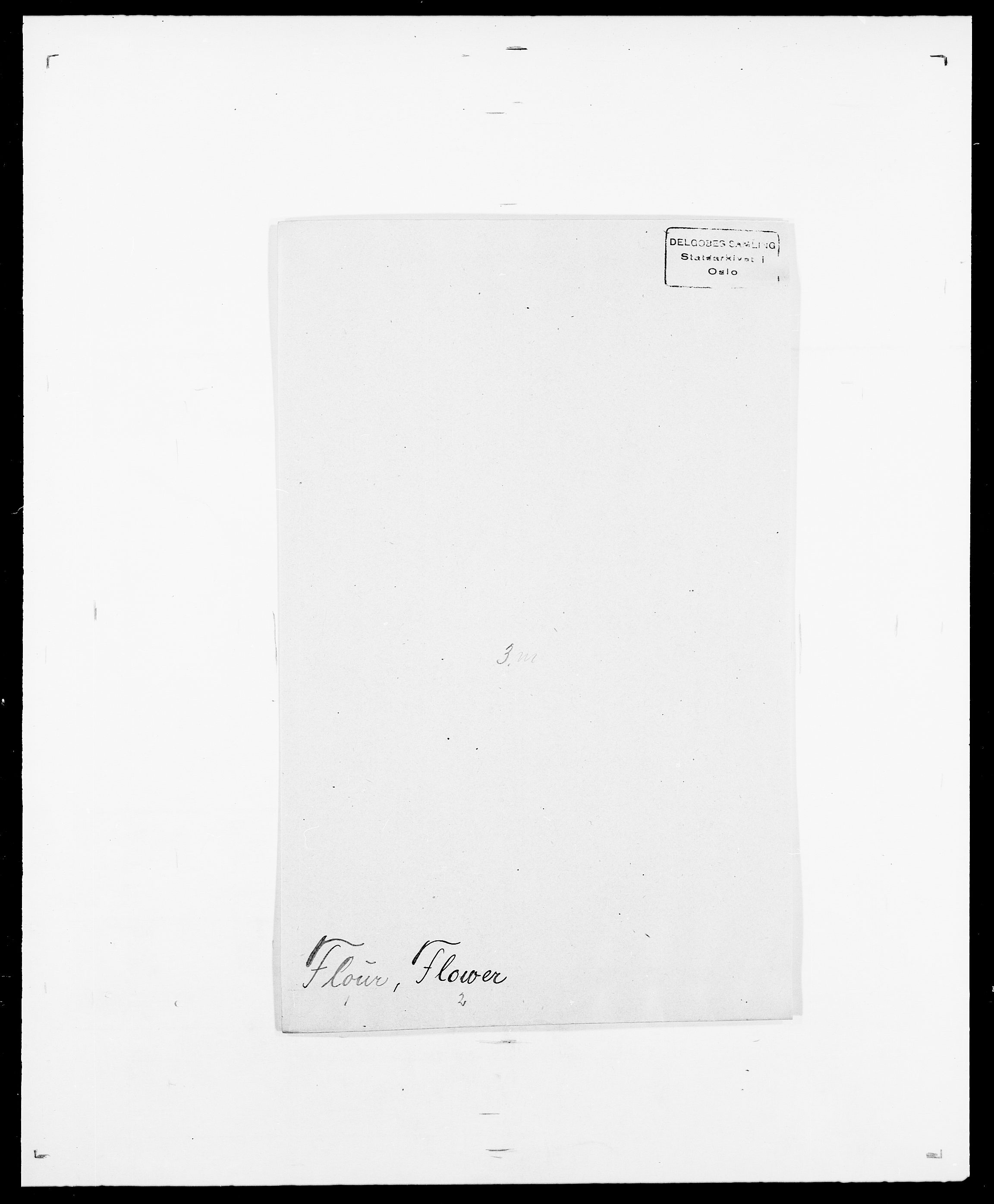 SAO, Delgobe, Charles Antoine - samling, D/Da/L0012: Flor, Floer, Flohr - Fritzner, s. 478