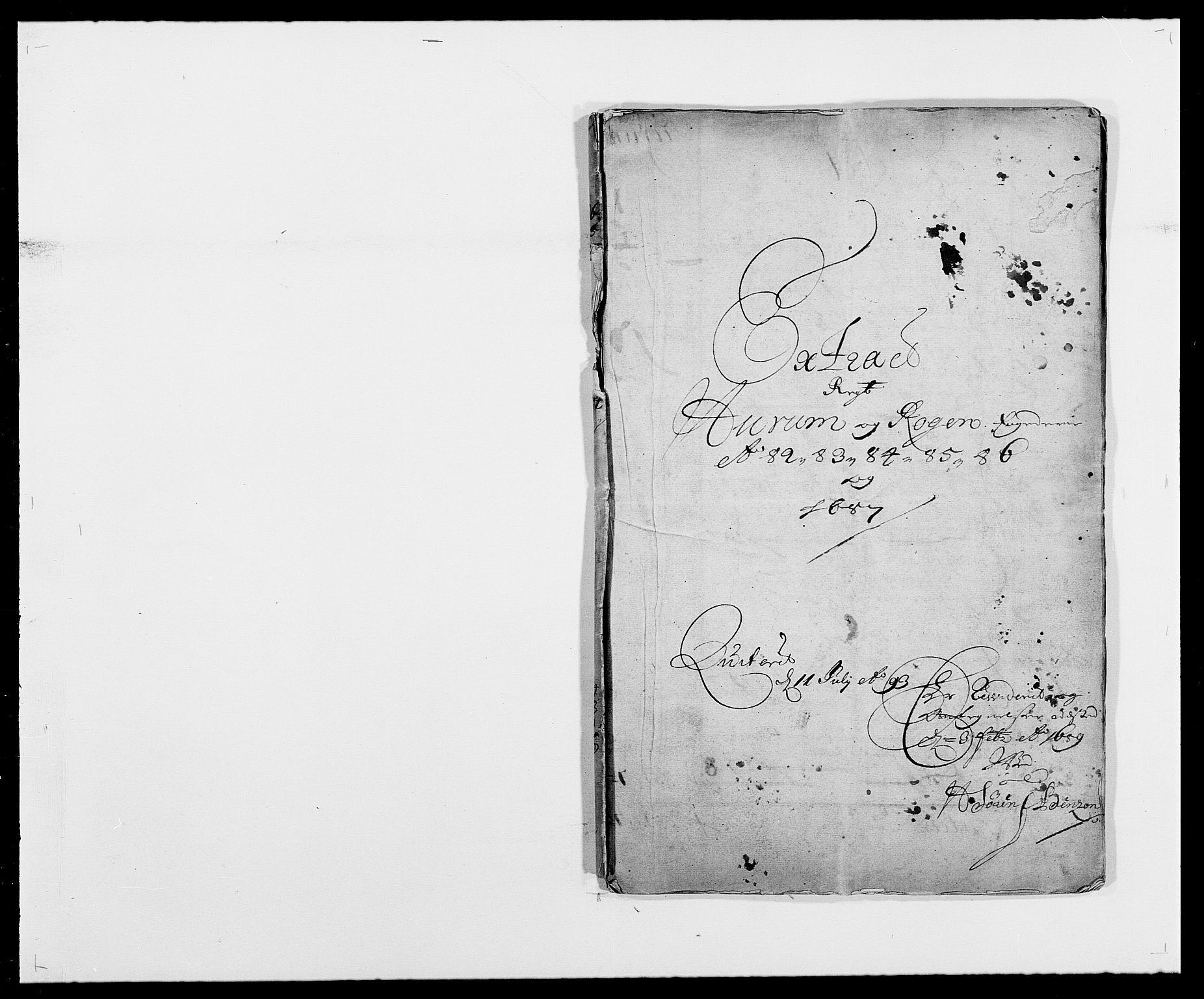 RA, Rentekammeret inntil 1814, Reviderte regnskaper, Fogderegnskap, R29/L1692: Fogderegnskap Hurum og Røyken, 1682-1687, s. 1