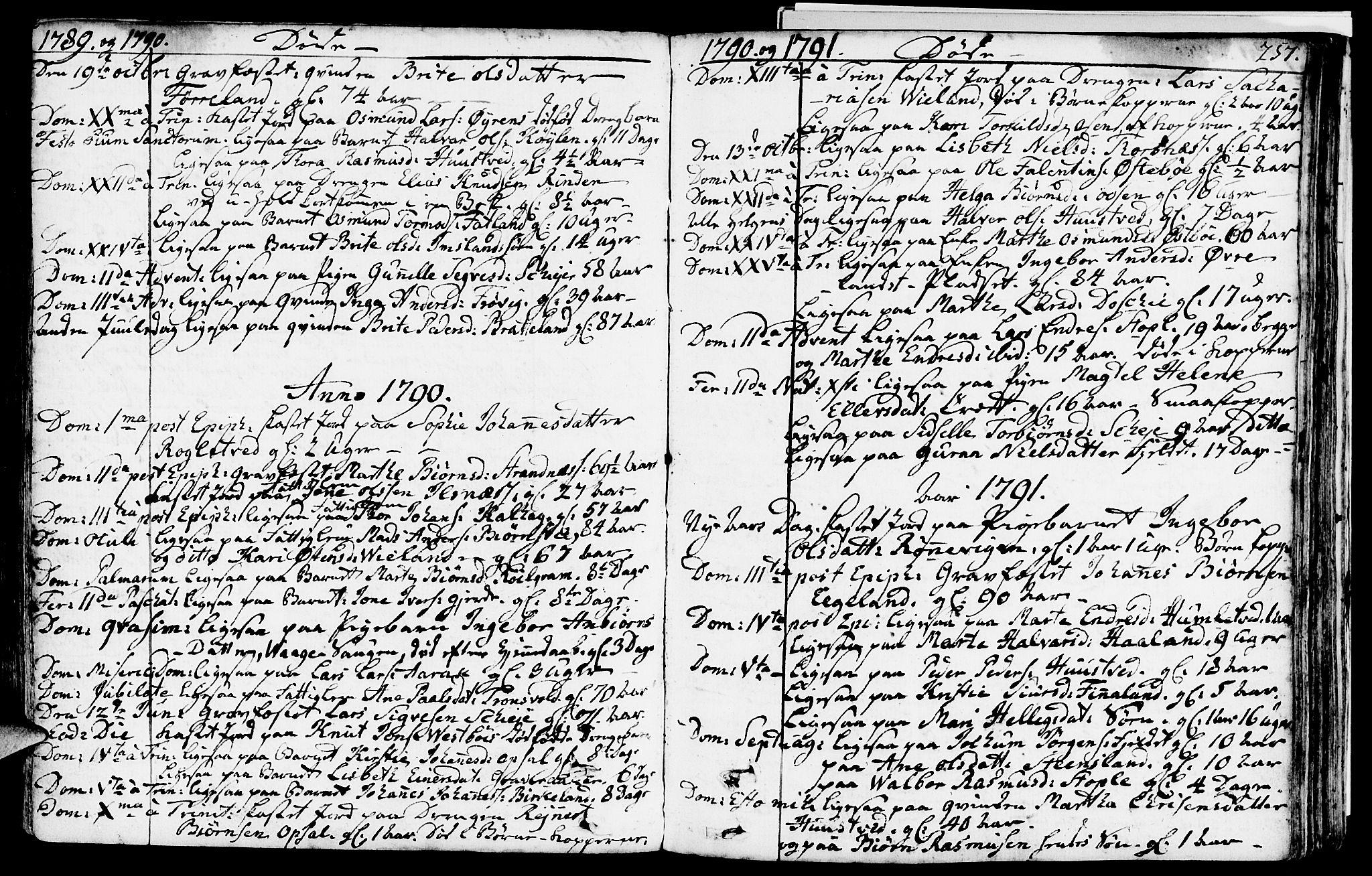 SAST, Vikedal sokneprestkontor, IV: Ministerialbok nr. A 2, 1779-1817, s. 257