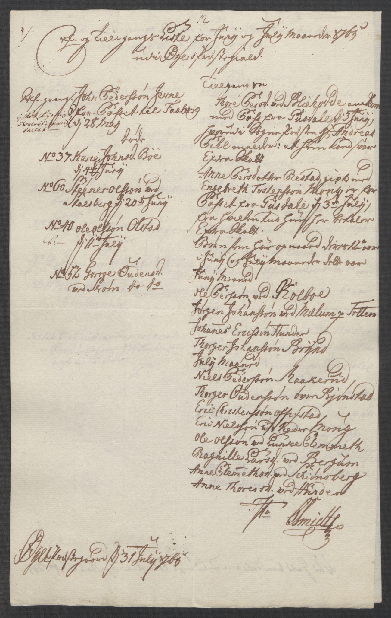RA, Rentekammeret inntil 1814, Reviderte regnskaper, Fogderegnskap, R17/L1266: Ekstraskatten Gudbrandsdal, 1762-1766, s. 499