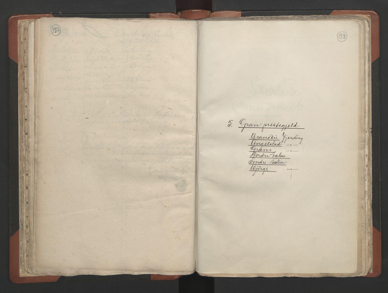RA, Sogneprestenes manntall 1664-1666, nr. 7: Hadeland prosti, 1664-1666, s. 137-138